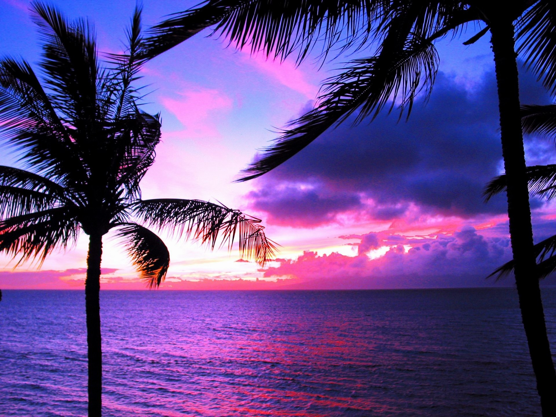 1920x1440 Hawaii Sunset Desktop Wallpaper 16294 Full HD Wallpaper Desktop .