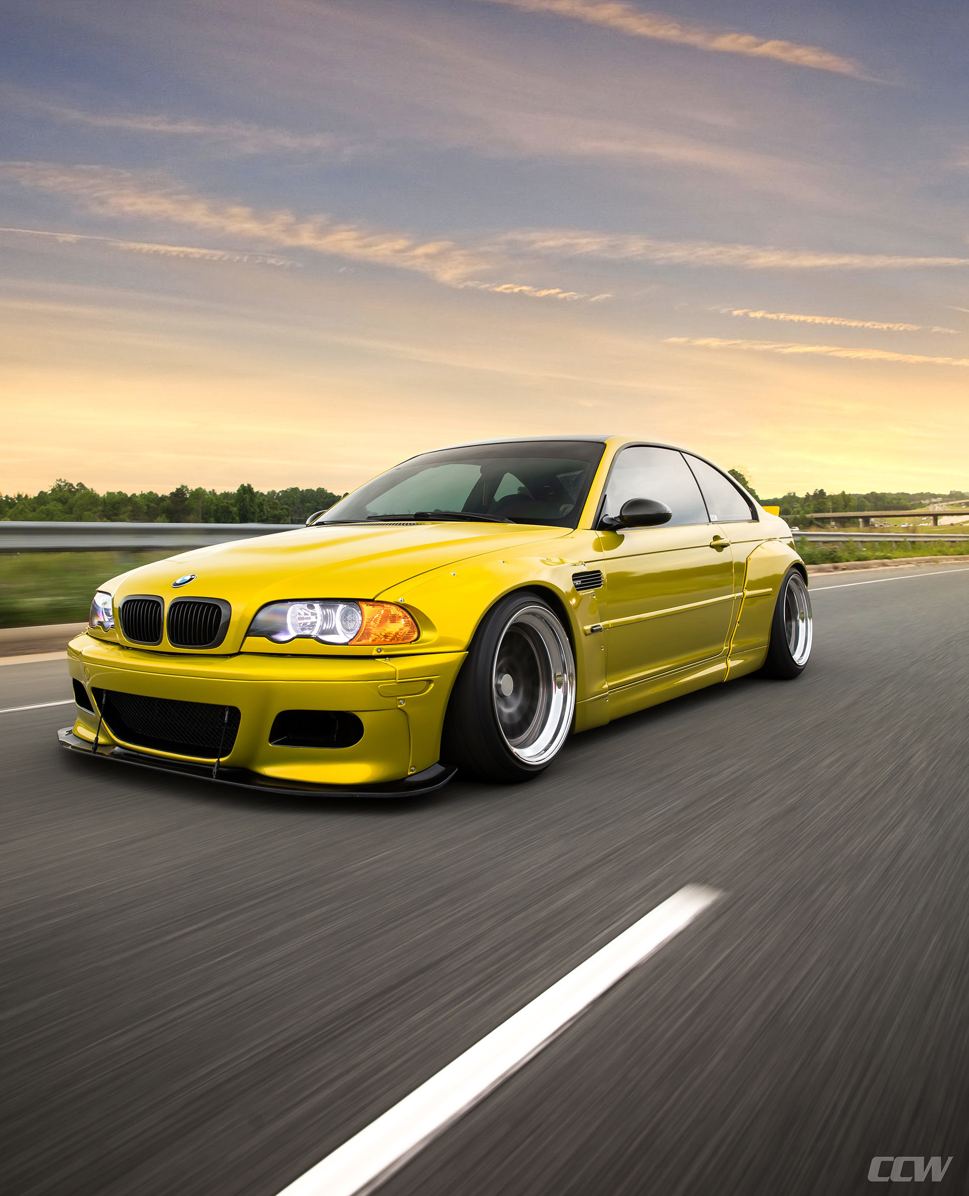 1920x2368 Phoenix Yellow BMW E46 M3 - CCW Classic Wheels Wallpaper