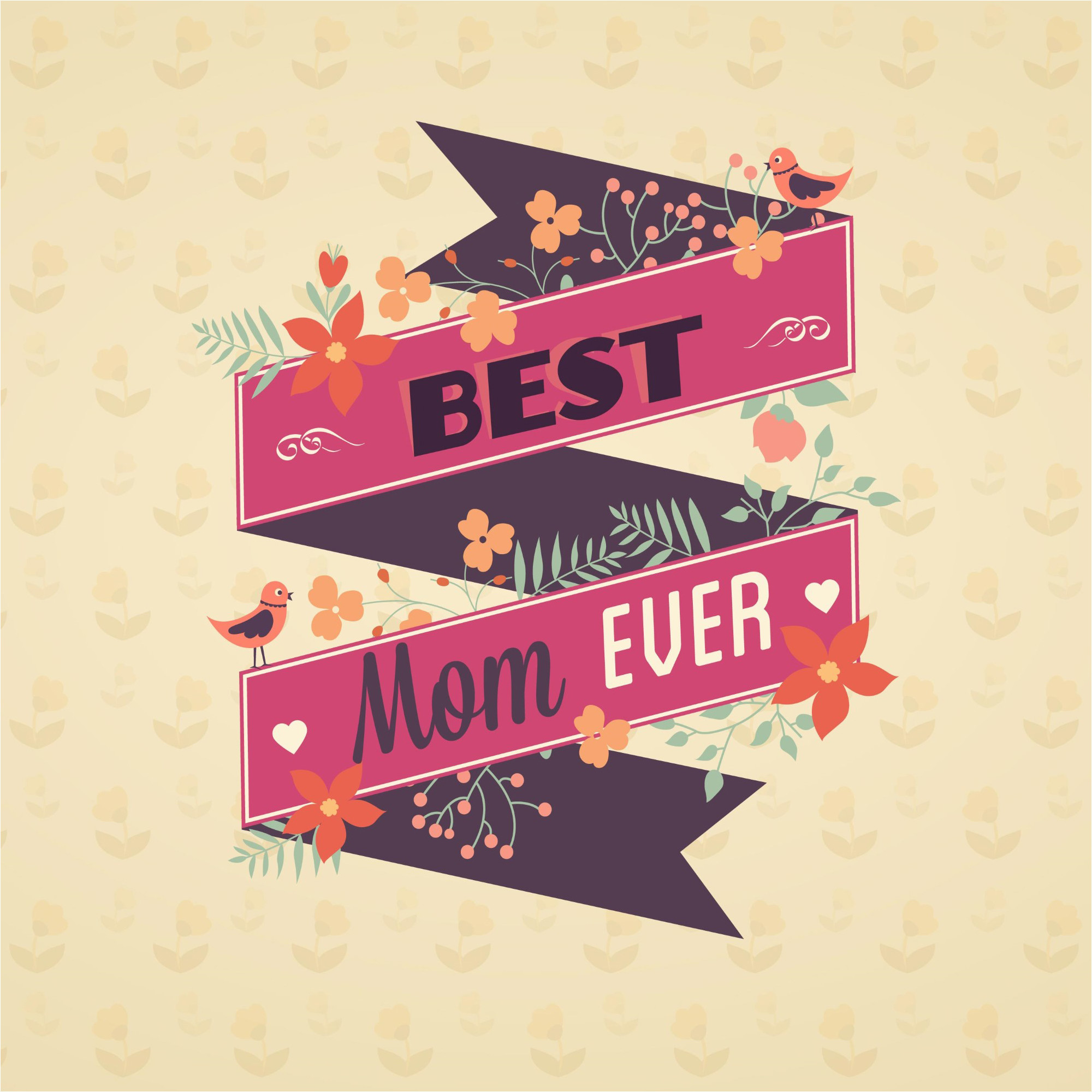 2000x2000 Best Mom Ever Happy Mother Day Background