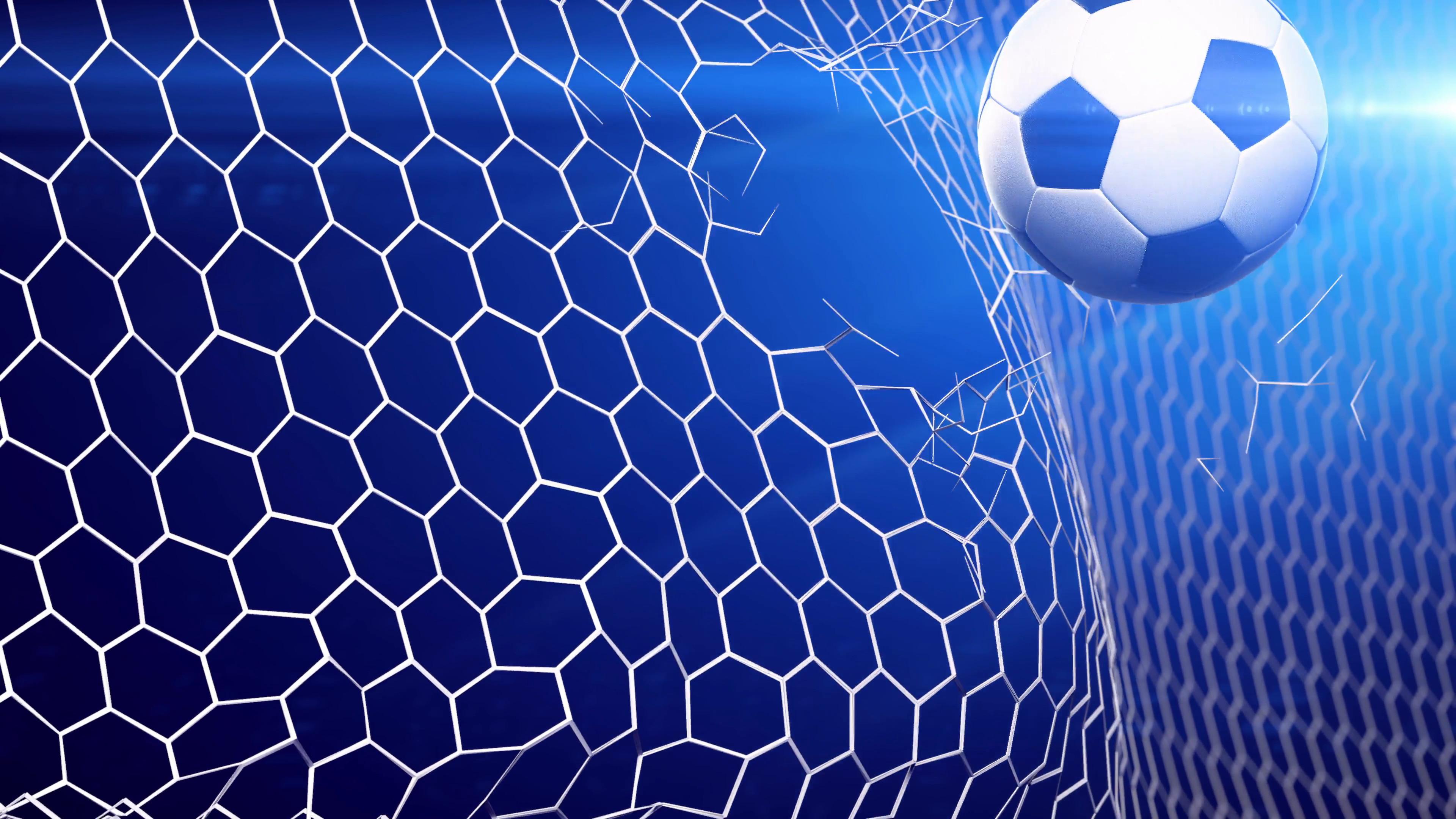 Soccer goal background