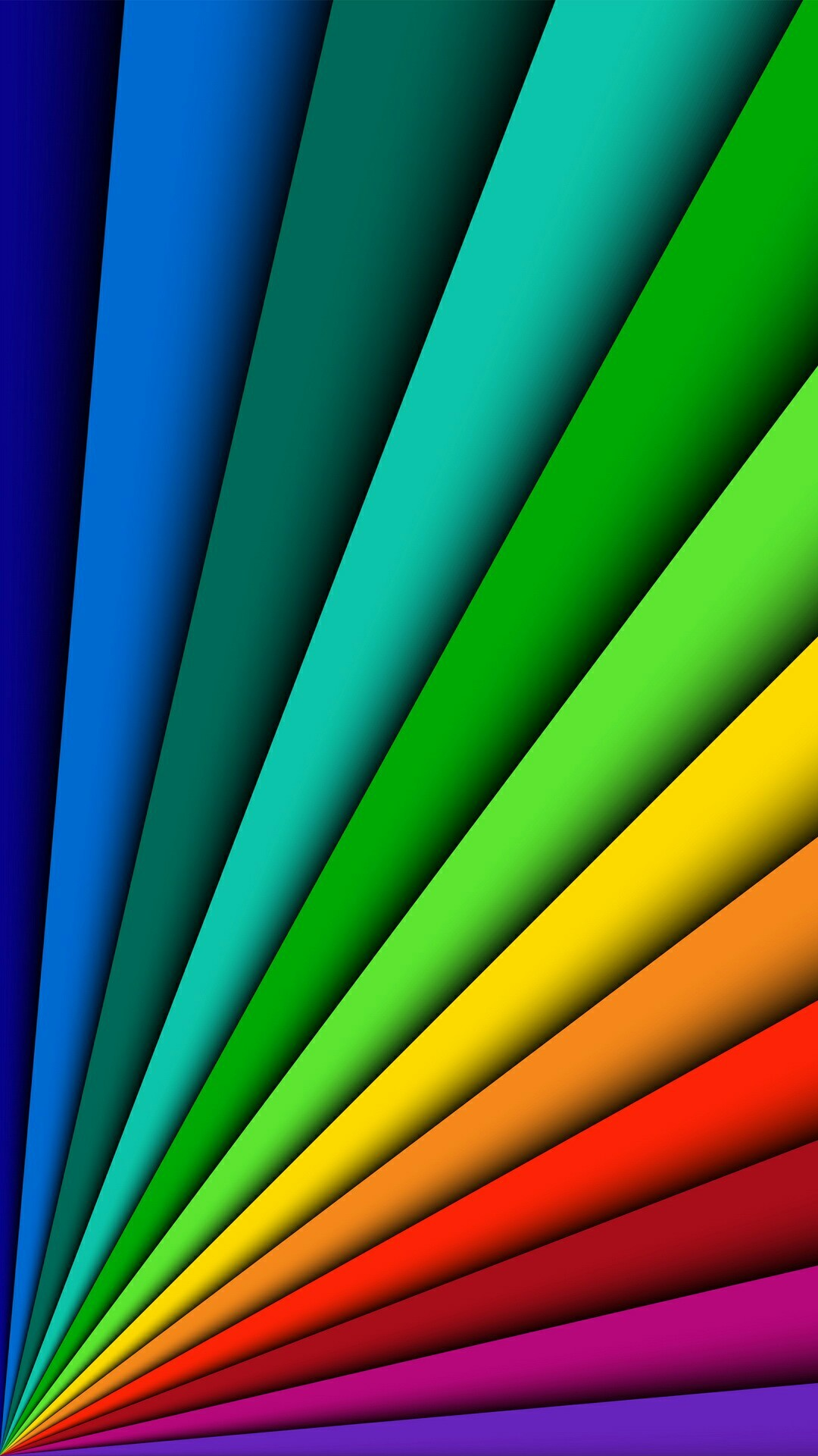 1080x1920 Fanned Out Primary Colors Wallpaper