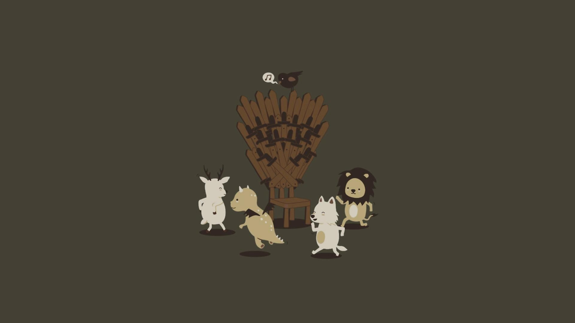 1920x1080 A Song Of Ice And Fire Dance Deer Dragons Funny Game Thrones House  Baratheon Lannister Stark Targaryen Lions Minimalistic Throne Wolves ...