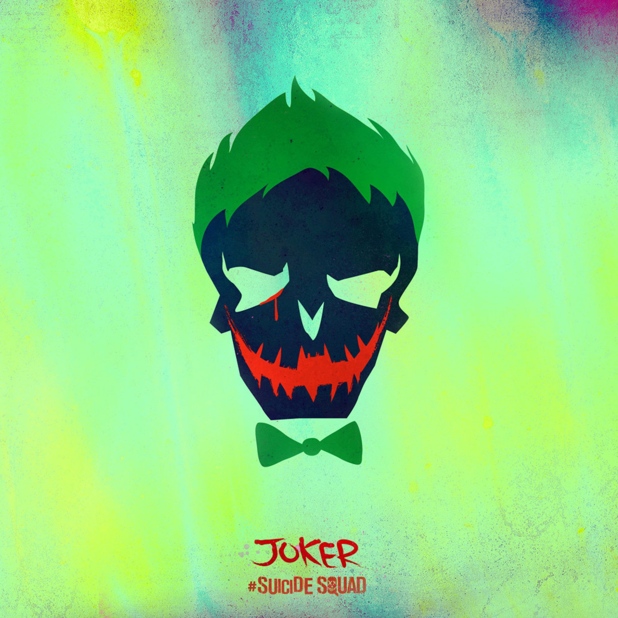 2048x2048 Joker - Tap to see more awesomely creative Suicide squad wallpapers!  @mobile9