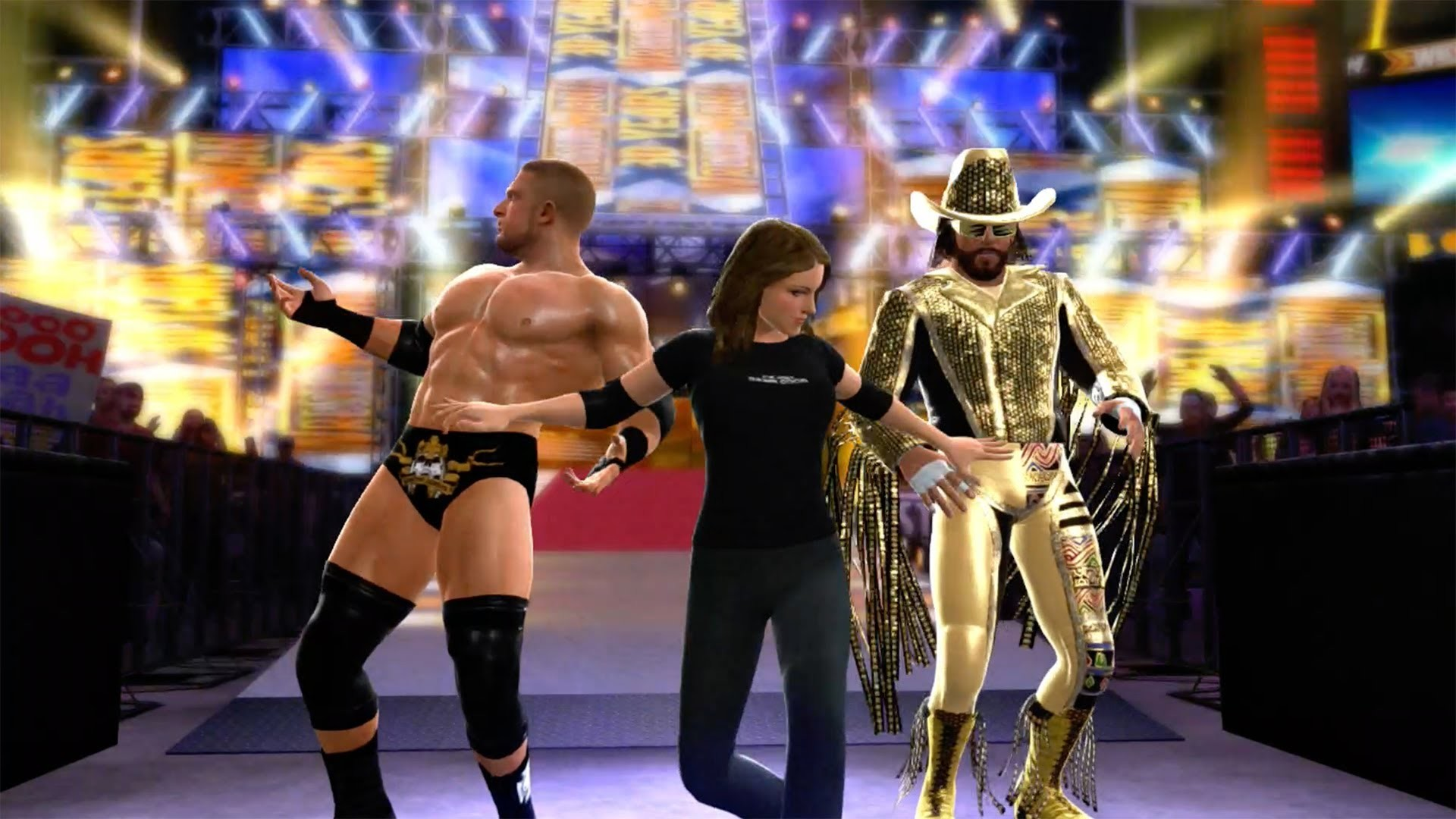 1920x1080 WWE 2K14 : Macho Man & Triple H (with Stephanie McMahon) Tag Team Entrance  - YouTube