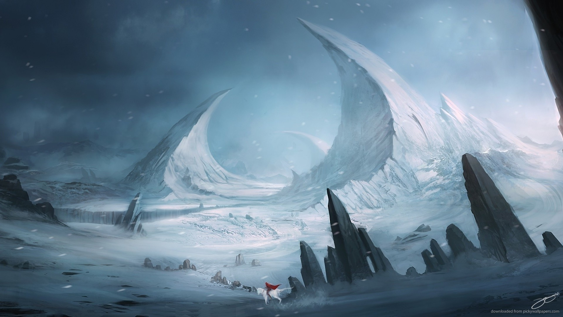1920x1080 Winter Fantasy Landscape for