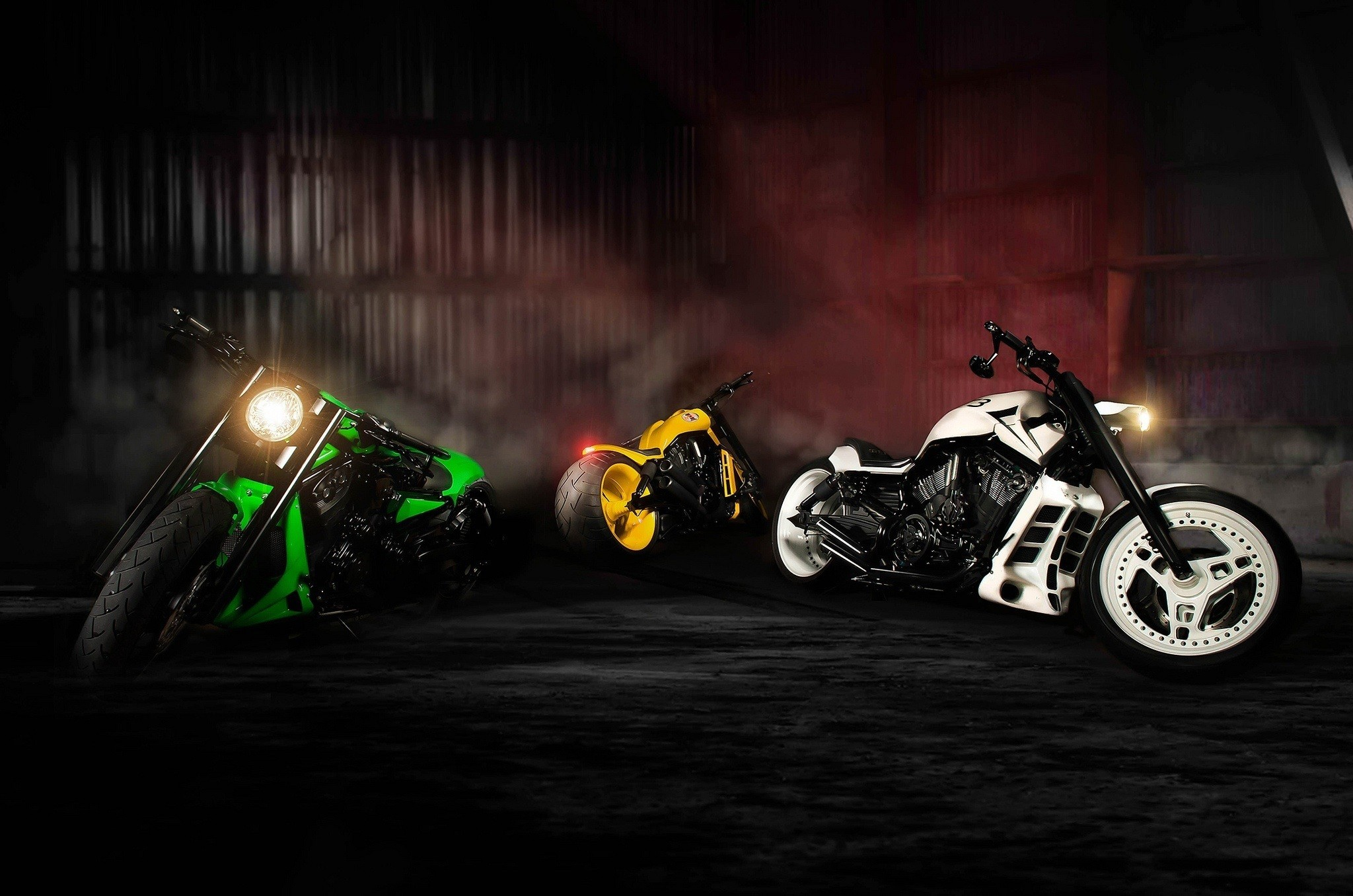 2048x1356 nlc Motorcycles Green Yellow White Sport Bike Full HD Wallpapers