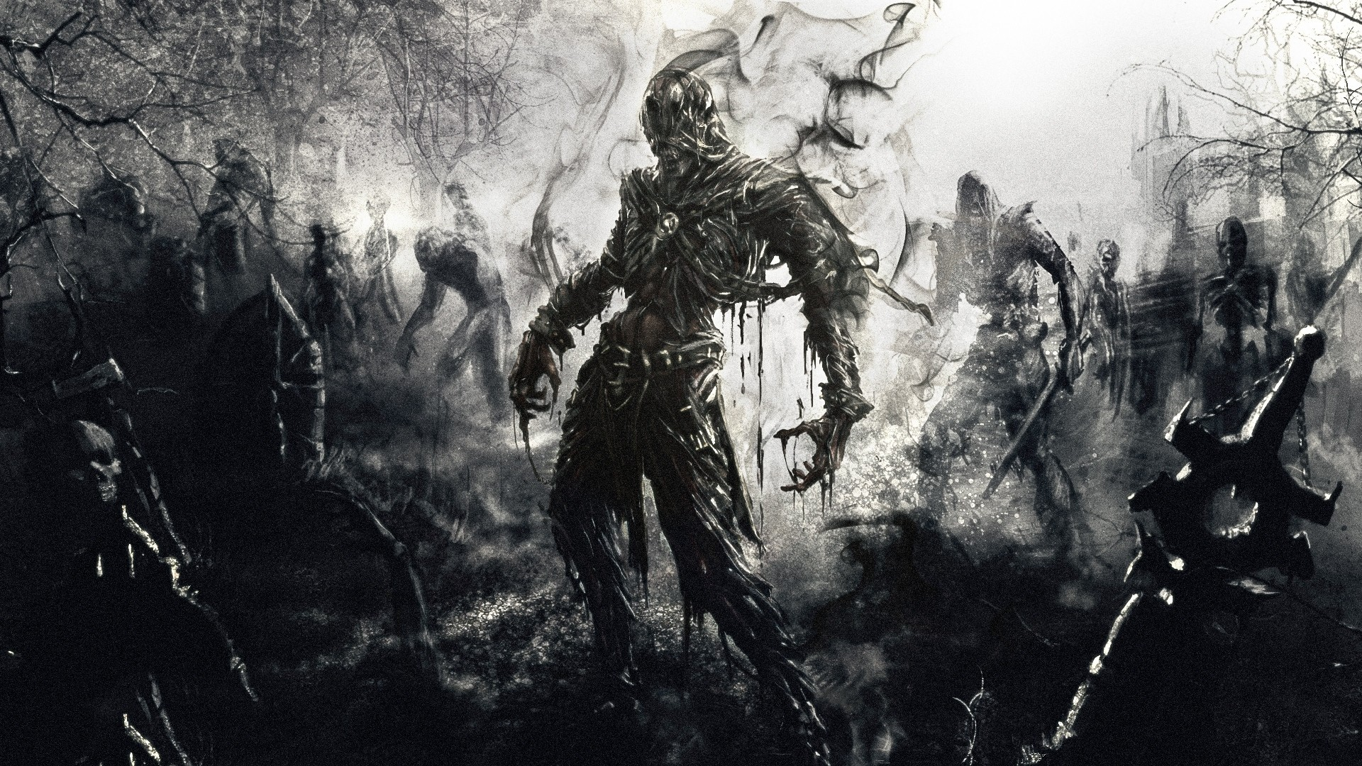 1920x1080 Preview wallpaper zombies, fantasy, art