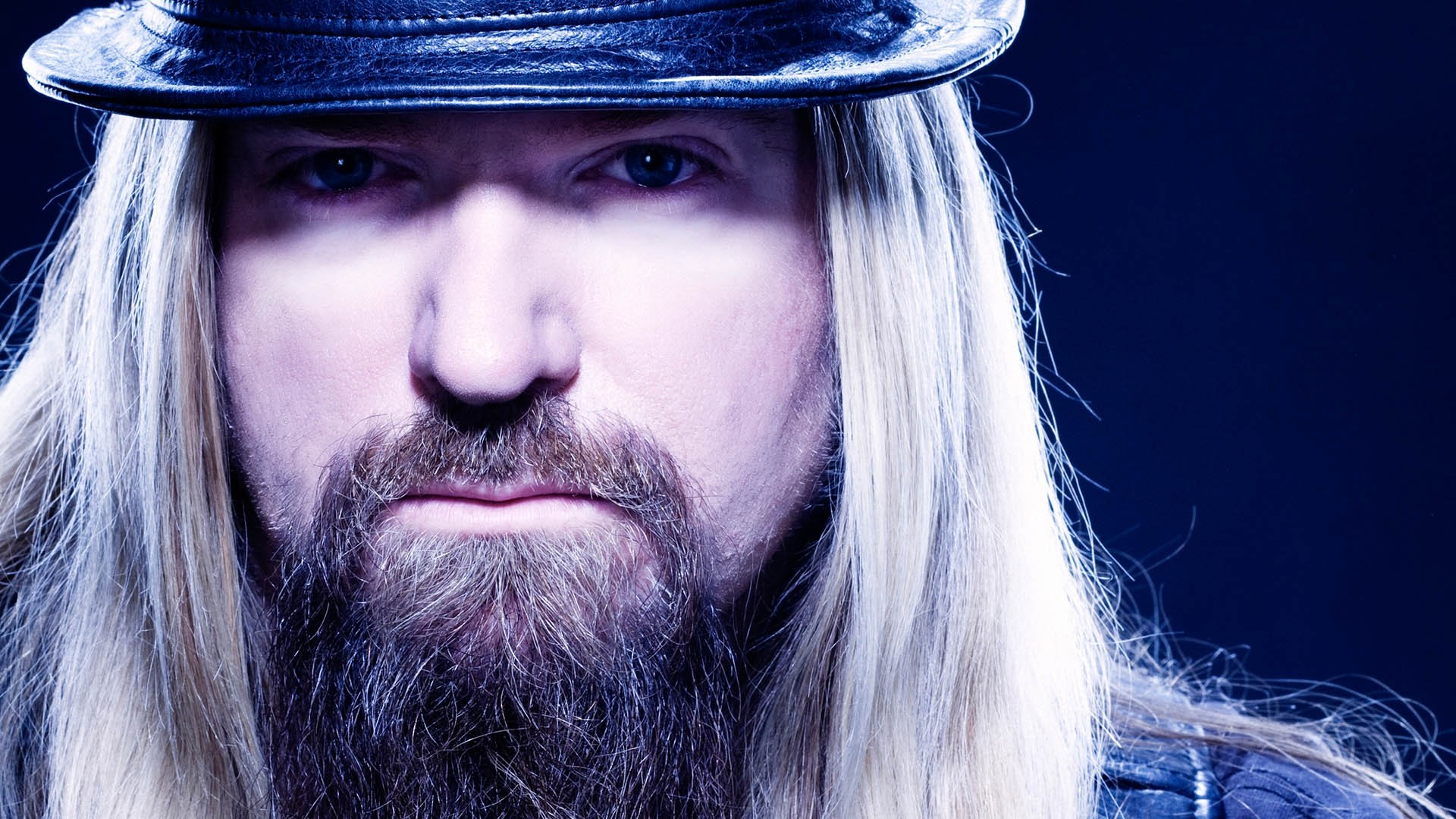 1920x1080  Wallpaper zakk wylde, face, hair, beard, hat