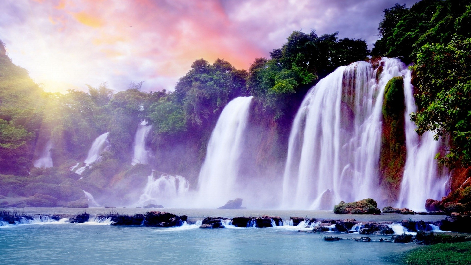beautiful waterfall wallpaper (50+ images)