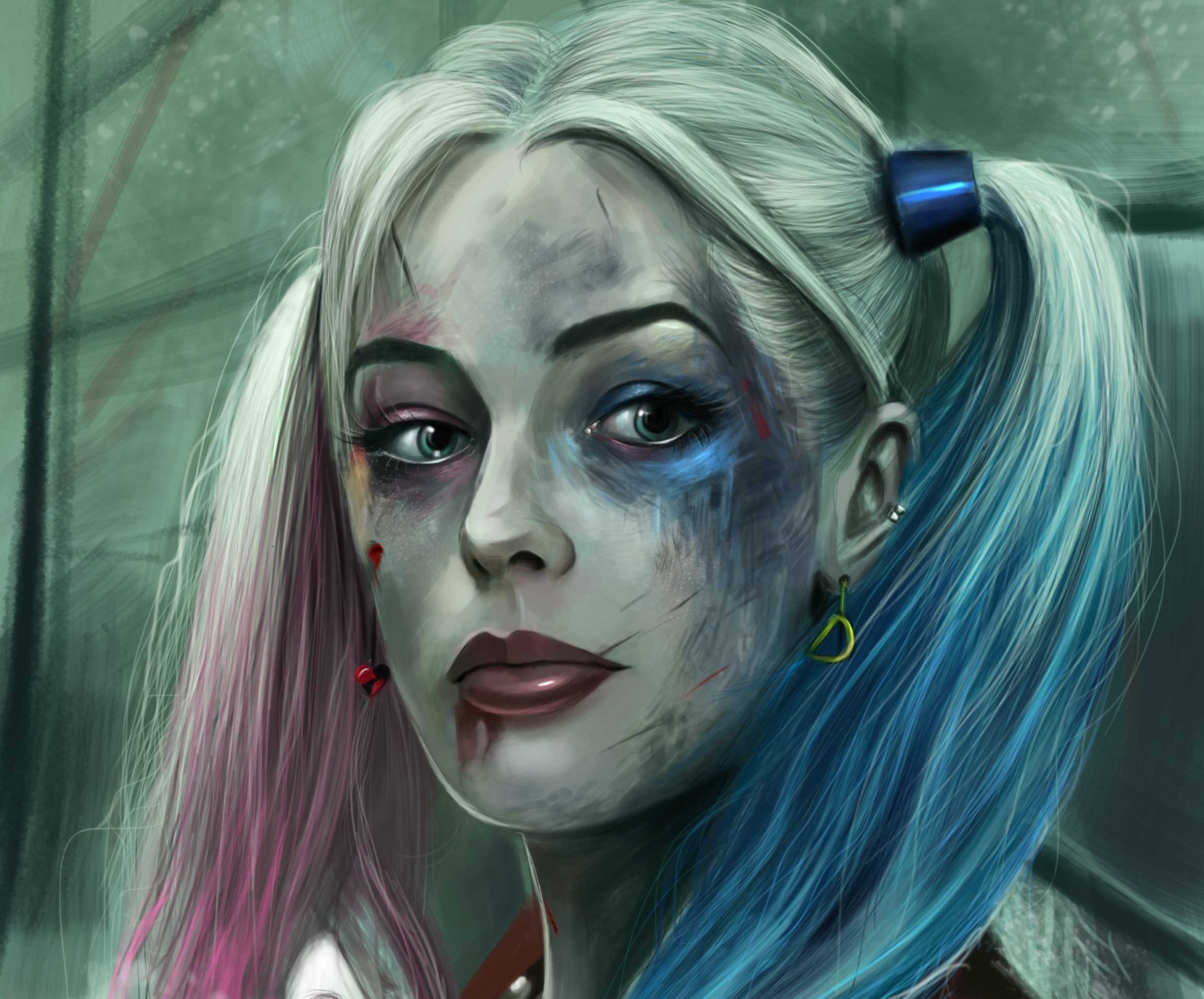 2474x2054 Harley Quinn In Suicide Squad 2048x1152 Resolution