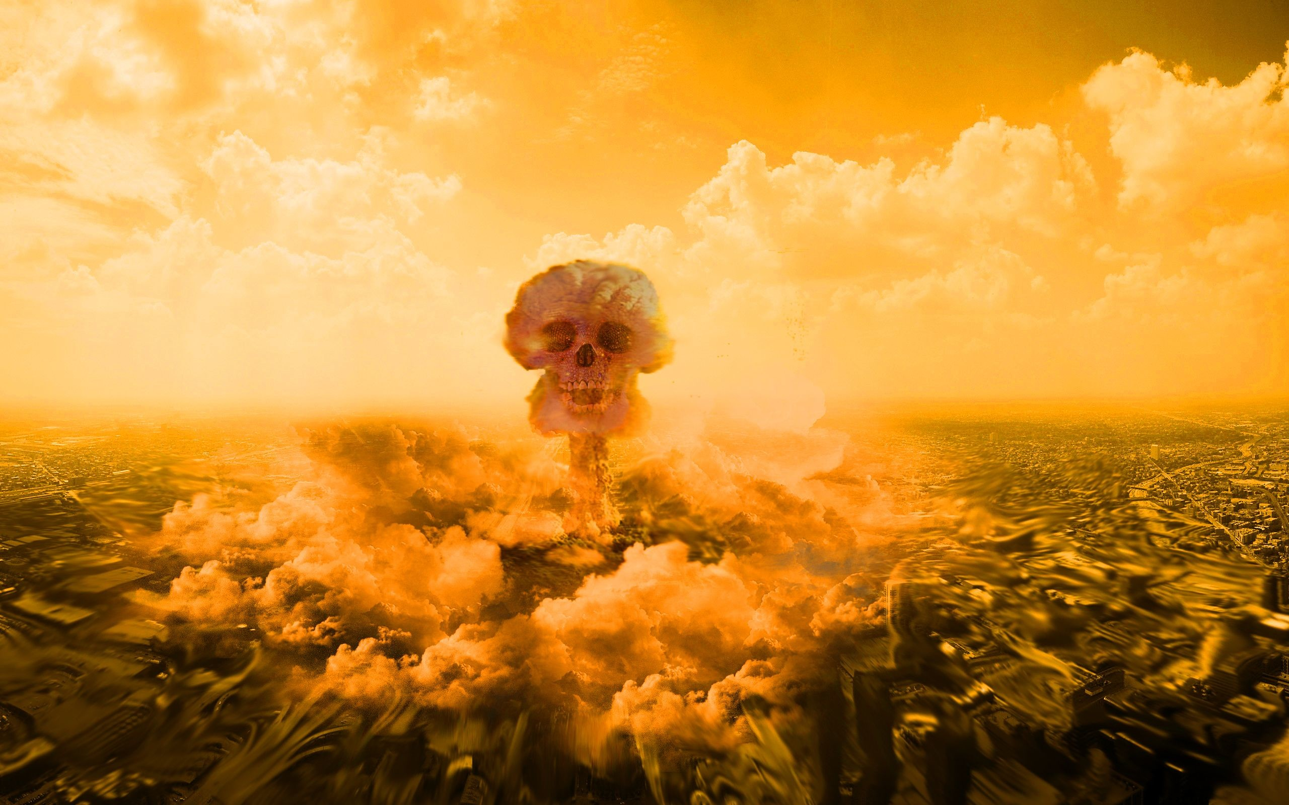 2560x1600 images of an eye with a mushroom cloud | skull mushroom cloud Wallpaper  Background | 59446