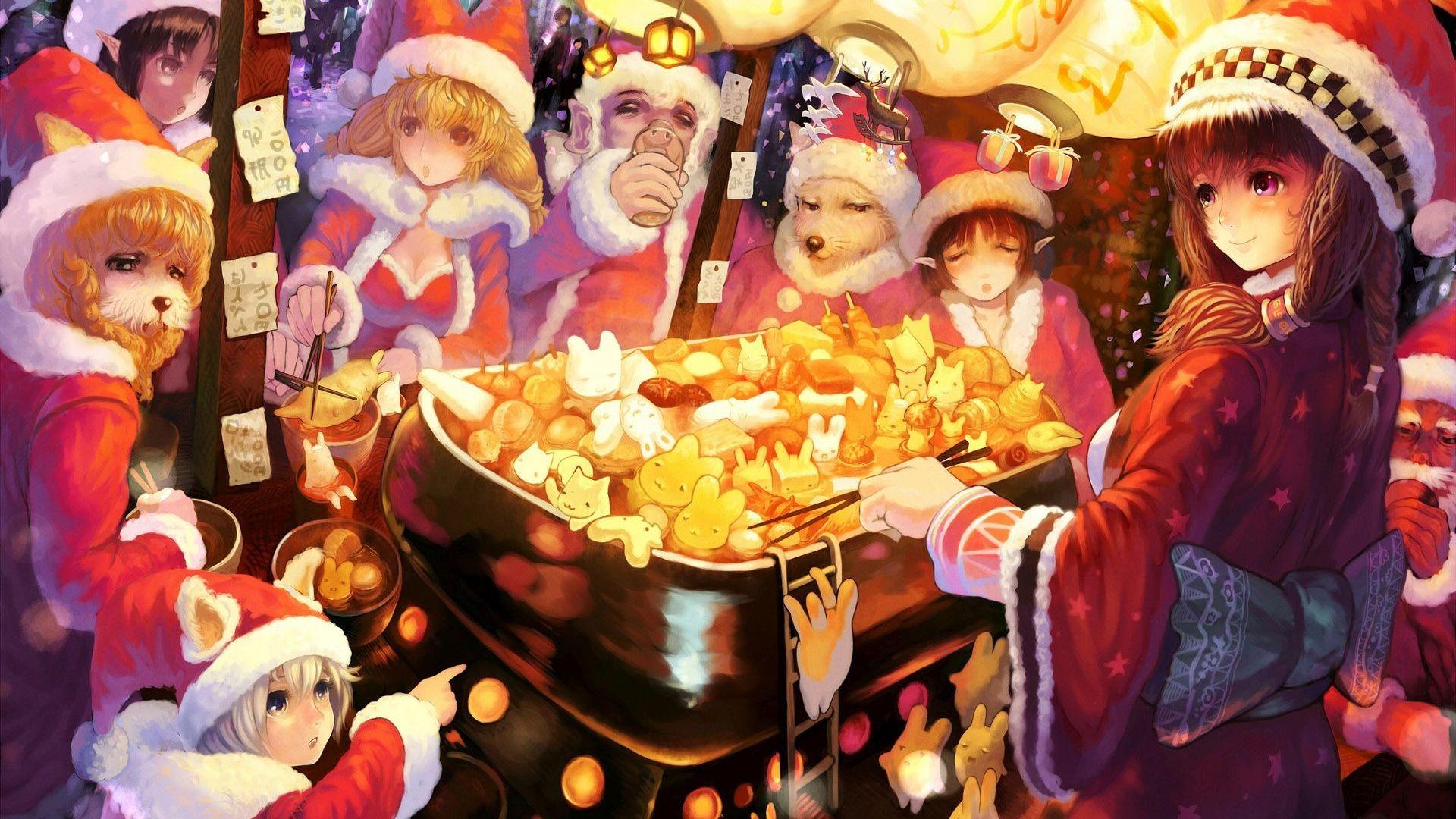 Anime christmas wallpaper hd 70 images - Anime merry christmas wallpaper ...