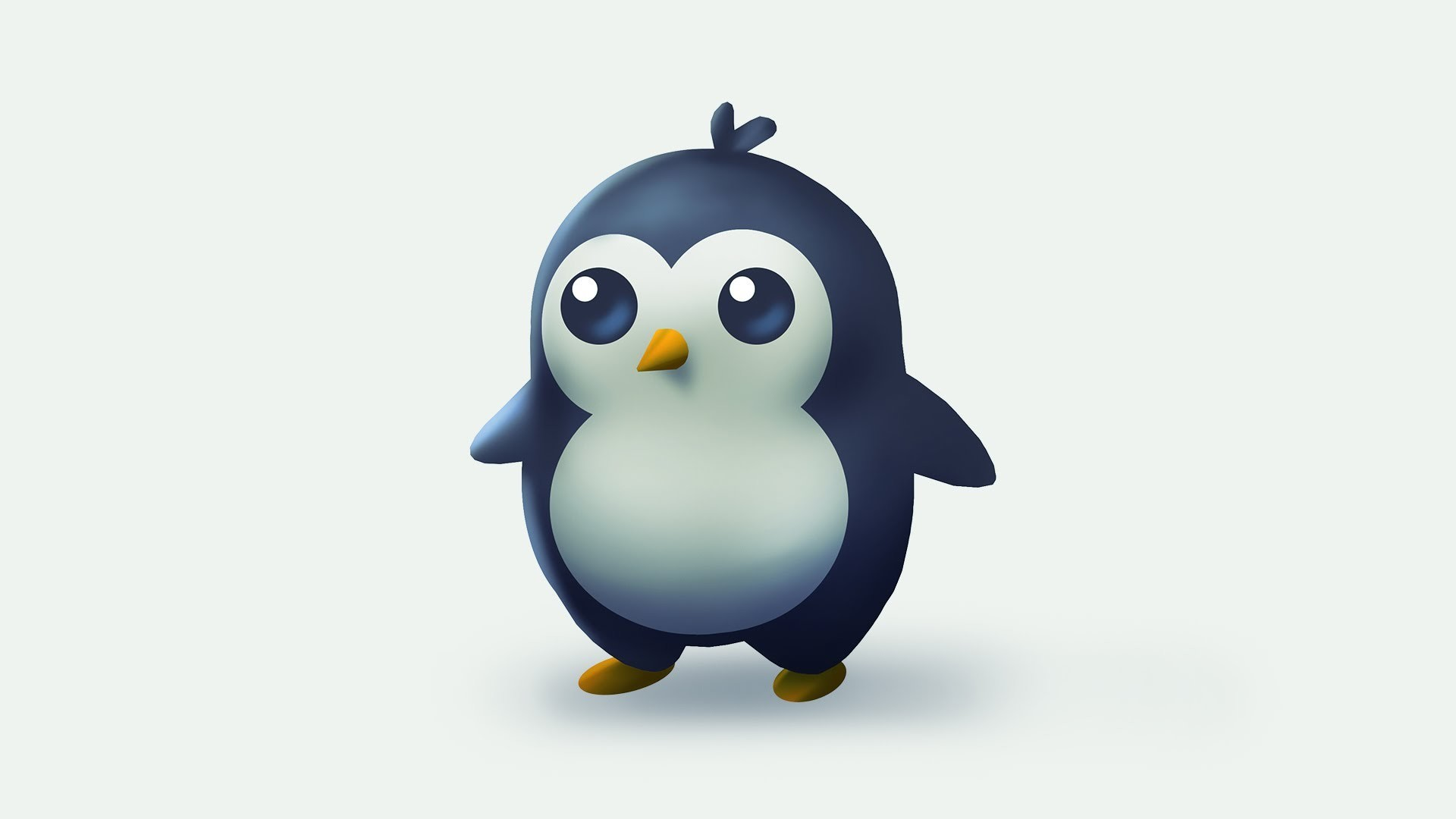 1920x1080 cute penguin wallpaper #607234
