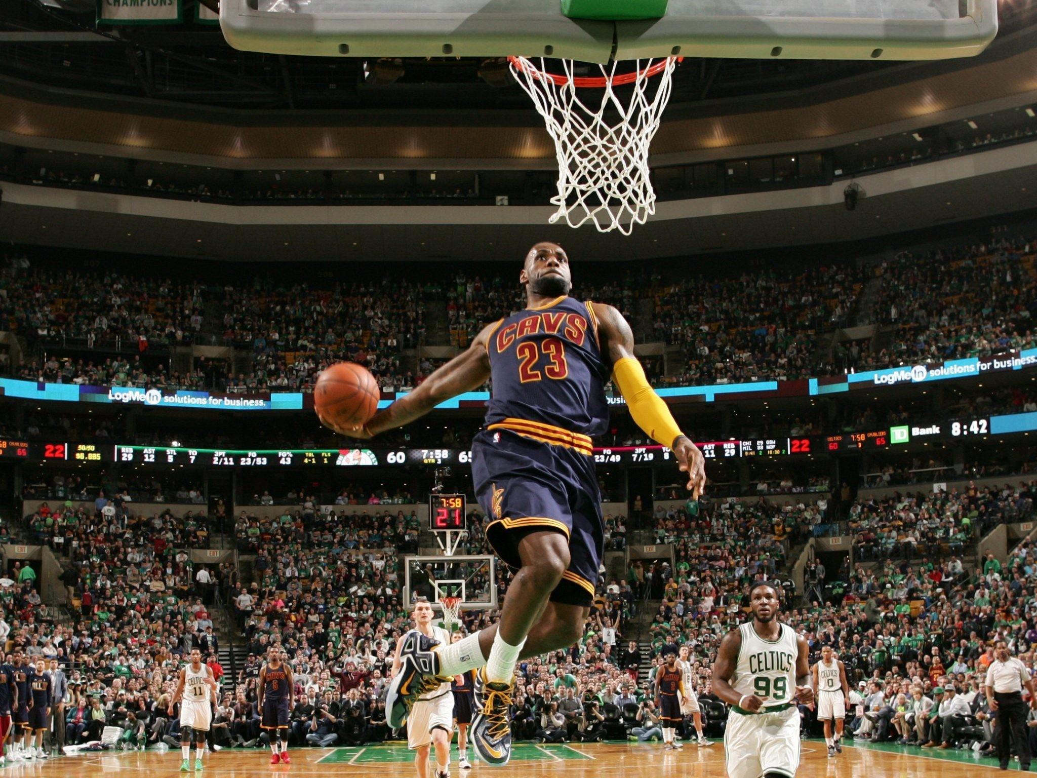 1920x1200 Miami Heat Lebron James Slam Dunk NBA Wallpaper HD