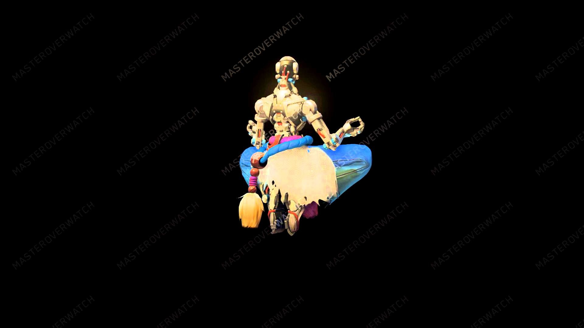 1920x1080 HD Water Zenyatta Overwatch Skin