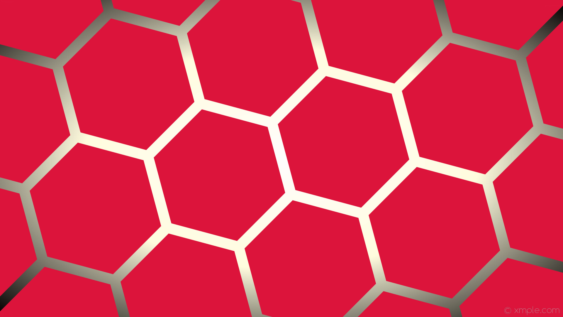 1920x1080 wallpaper red white gradient yellow hexagon glow black crimson light yellow  #dc143c #ffffff #