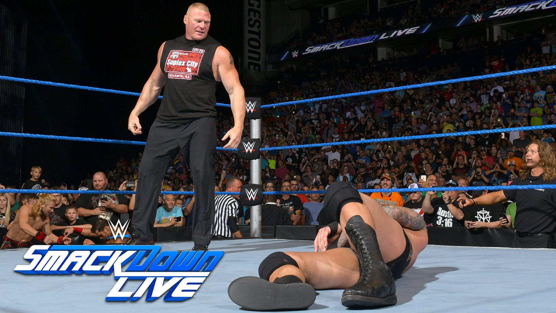 1920x1080 Brock Lesnar invades SmackDown Live: SmackDown Live, Aug. 2, 2016 - YouTube