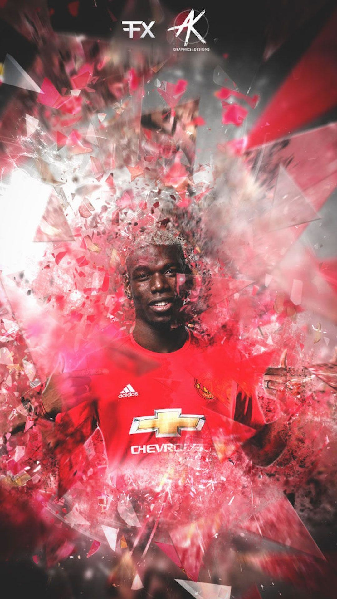 1080x1920 Paul Pogba Manchester United iPhone Wallpaper - Wallpapers iPhone