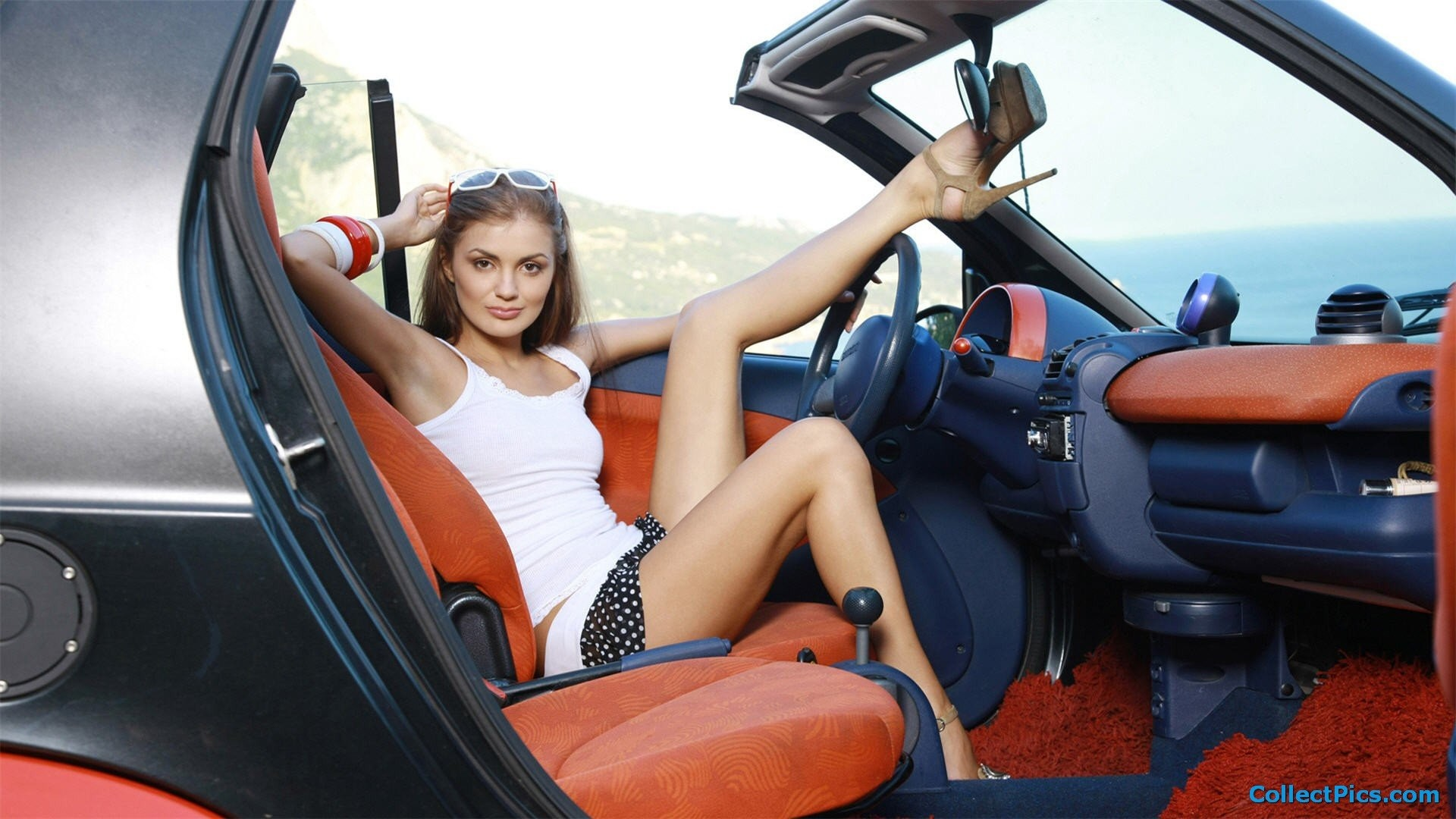 Chicks And Cars Wallpaper