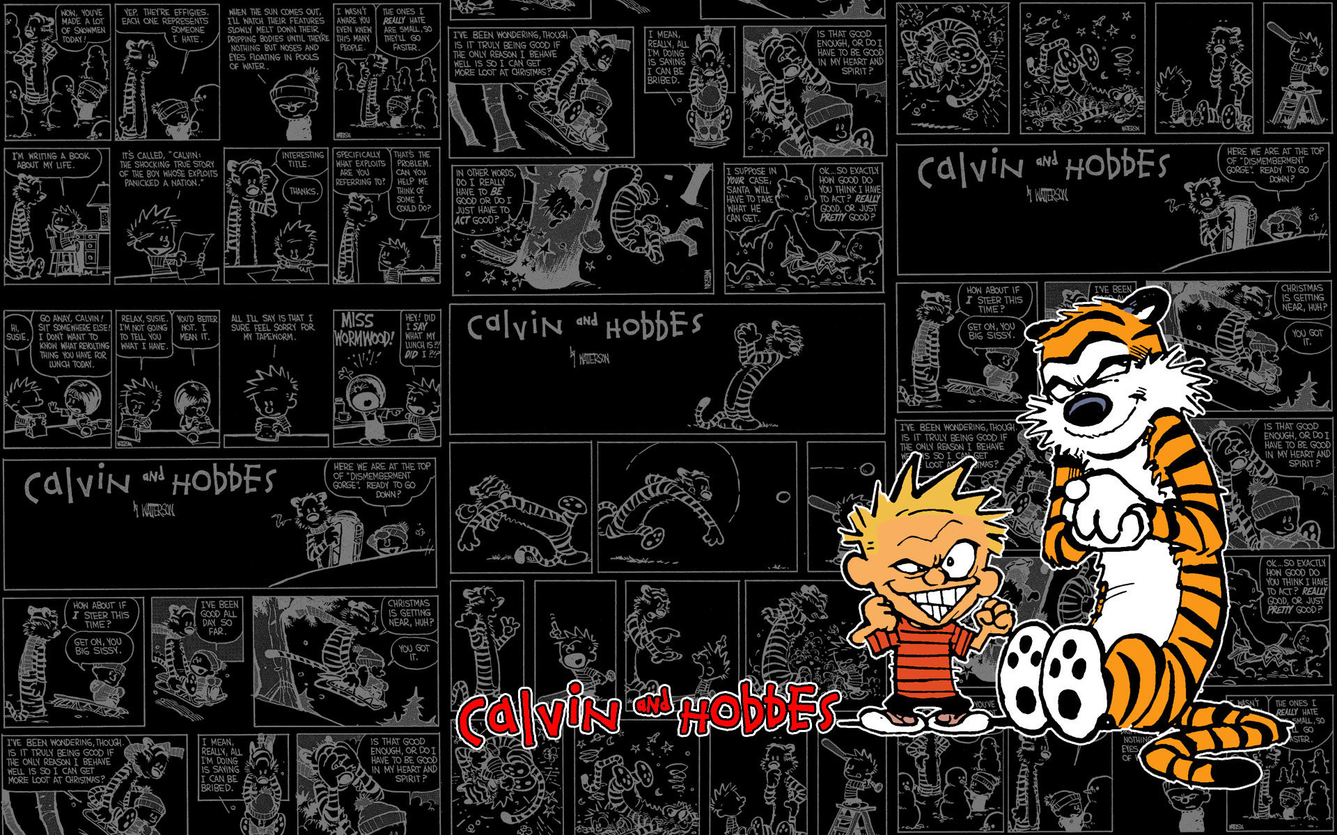 1920x1200 A Tribute to Calvin and Hobbes by WordofWar ...