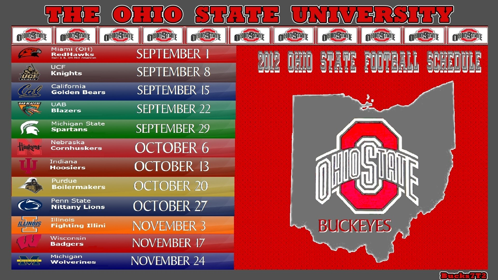 It is a picture of Monster Ohio State Football Schedule Printable