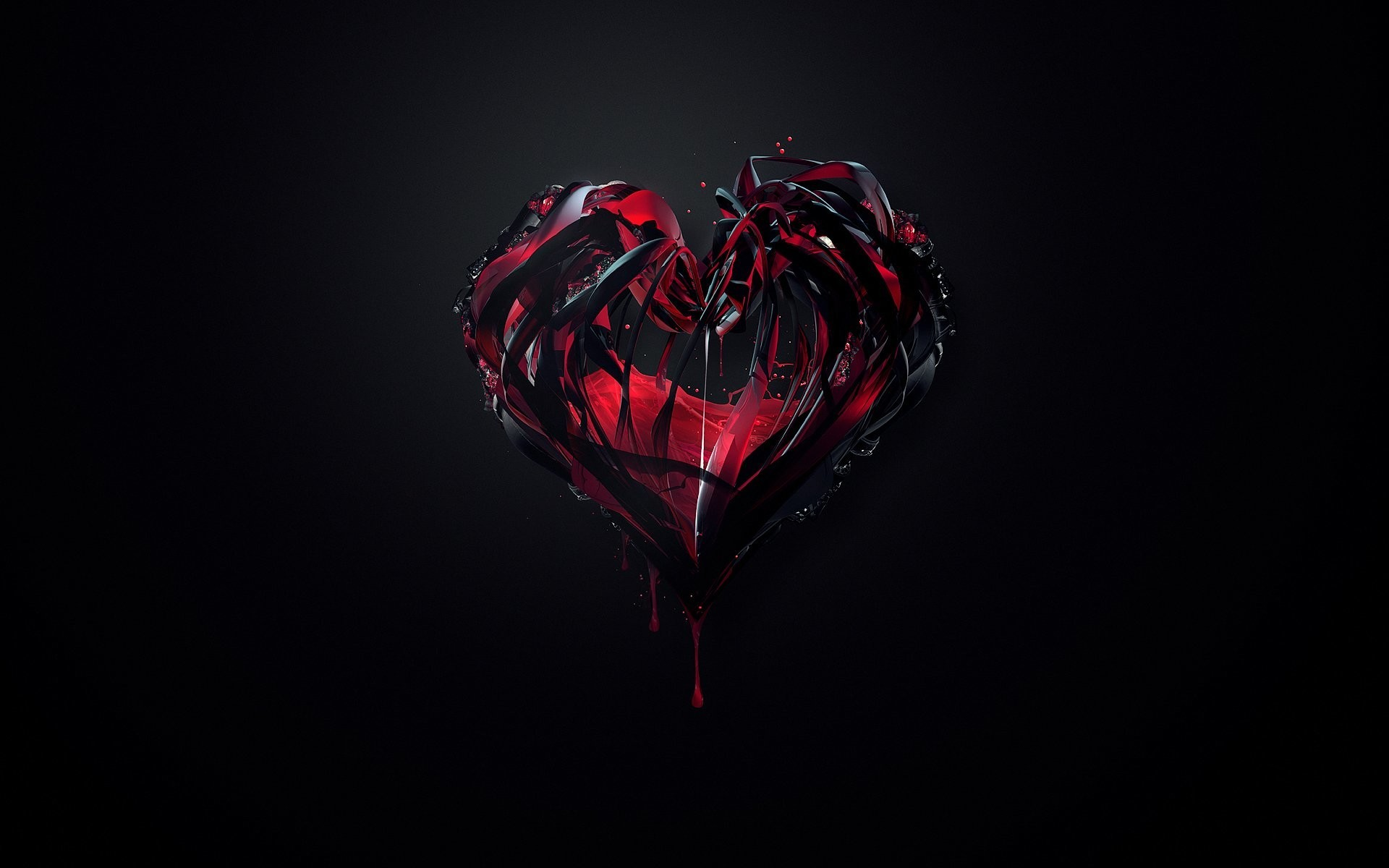1920x1200 Black And Red Love Abstract Wallpaper HD Widescreen Freeknlknlknlknlknlknkln