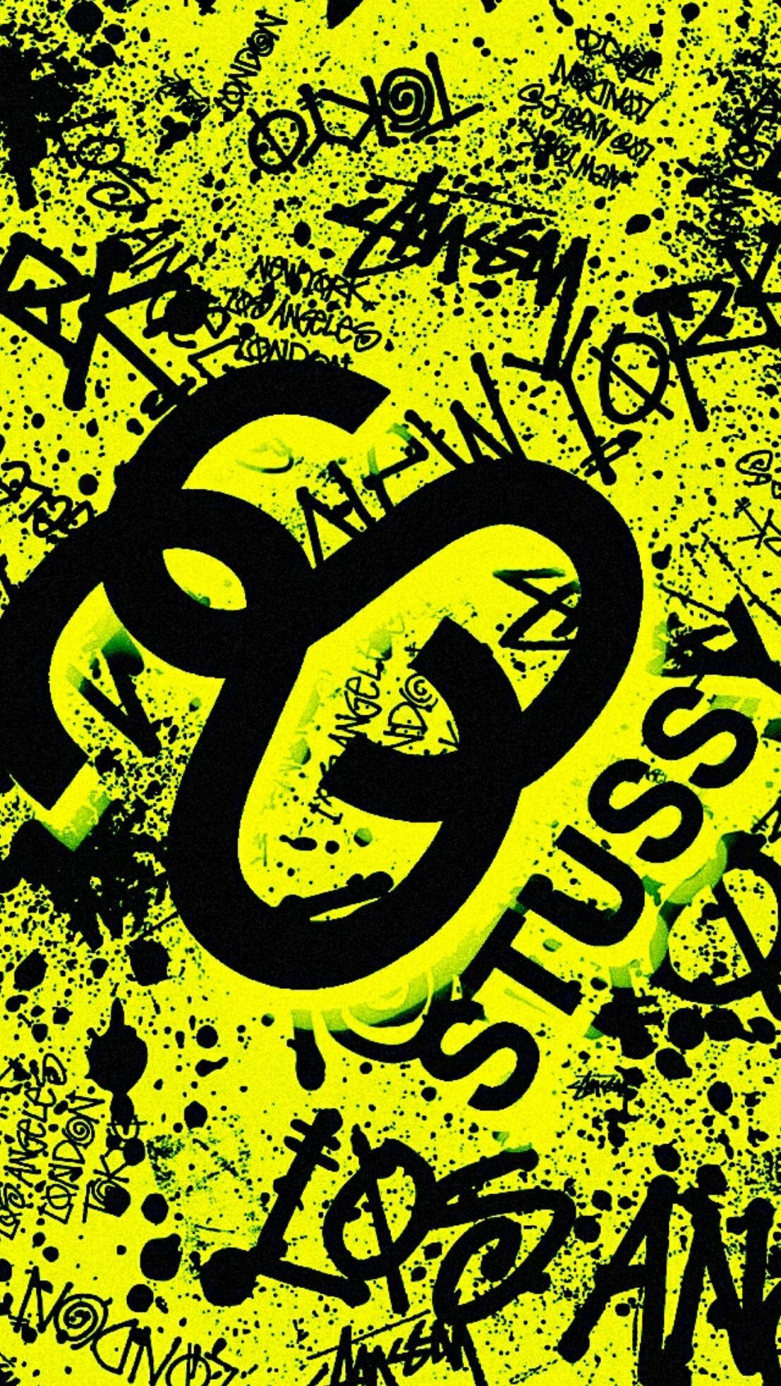 Black And Yellow Supreme Wallpaper