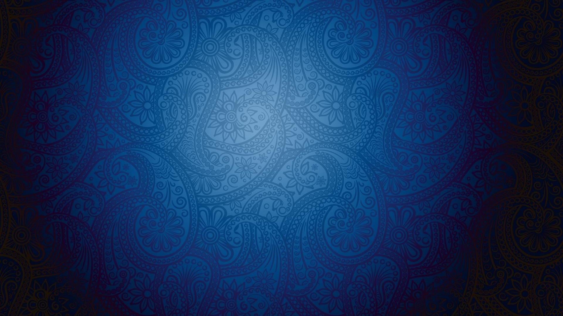 1920x1080 Royal Blue Vintage Pattern