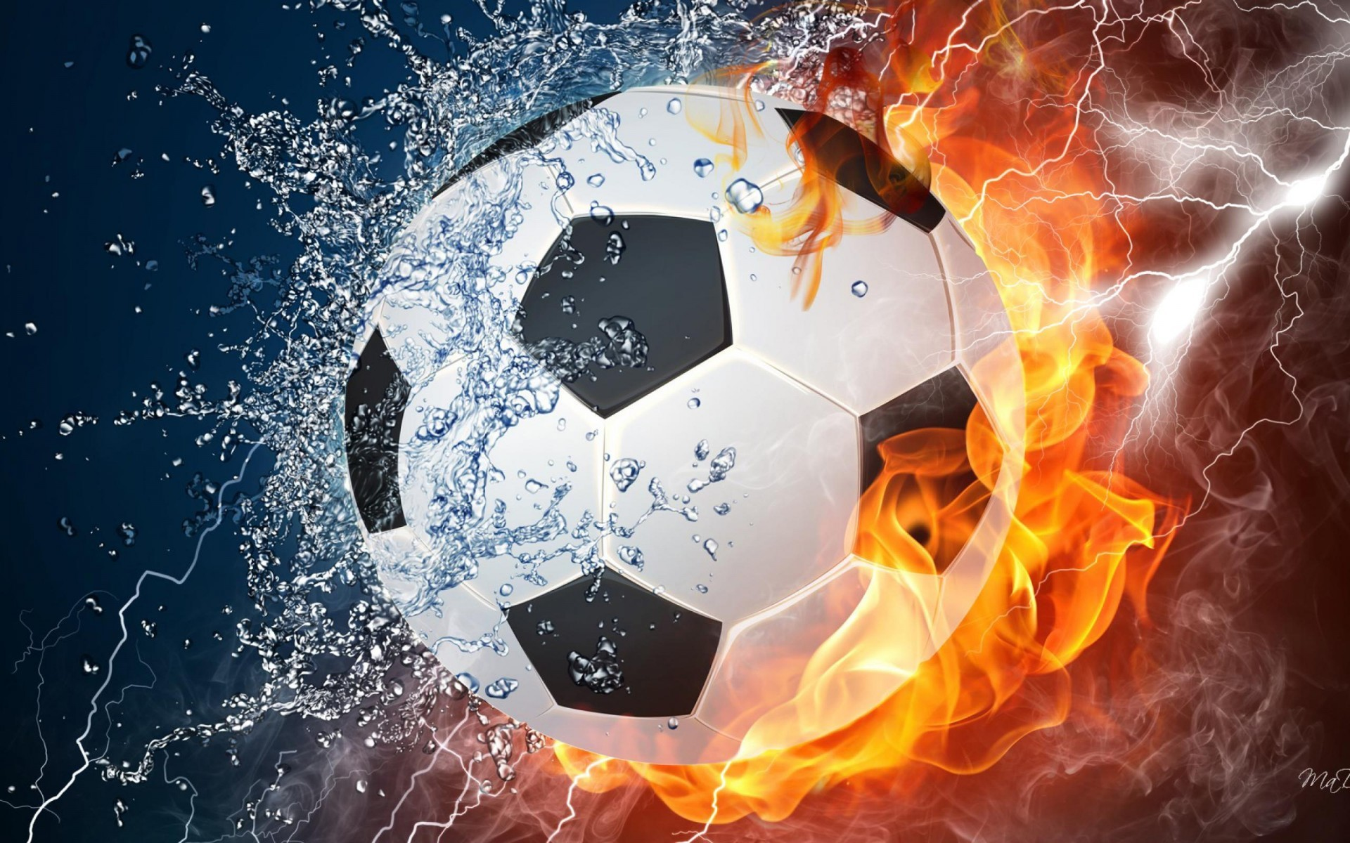 The Ball On Fire Soccer Football Sports Qhd Wallpaper 2: Soccer Ball Wallpapers (64+ Images