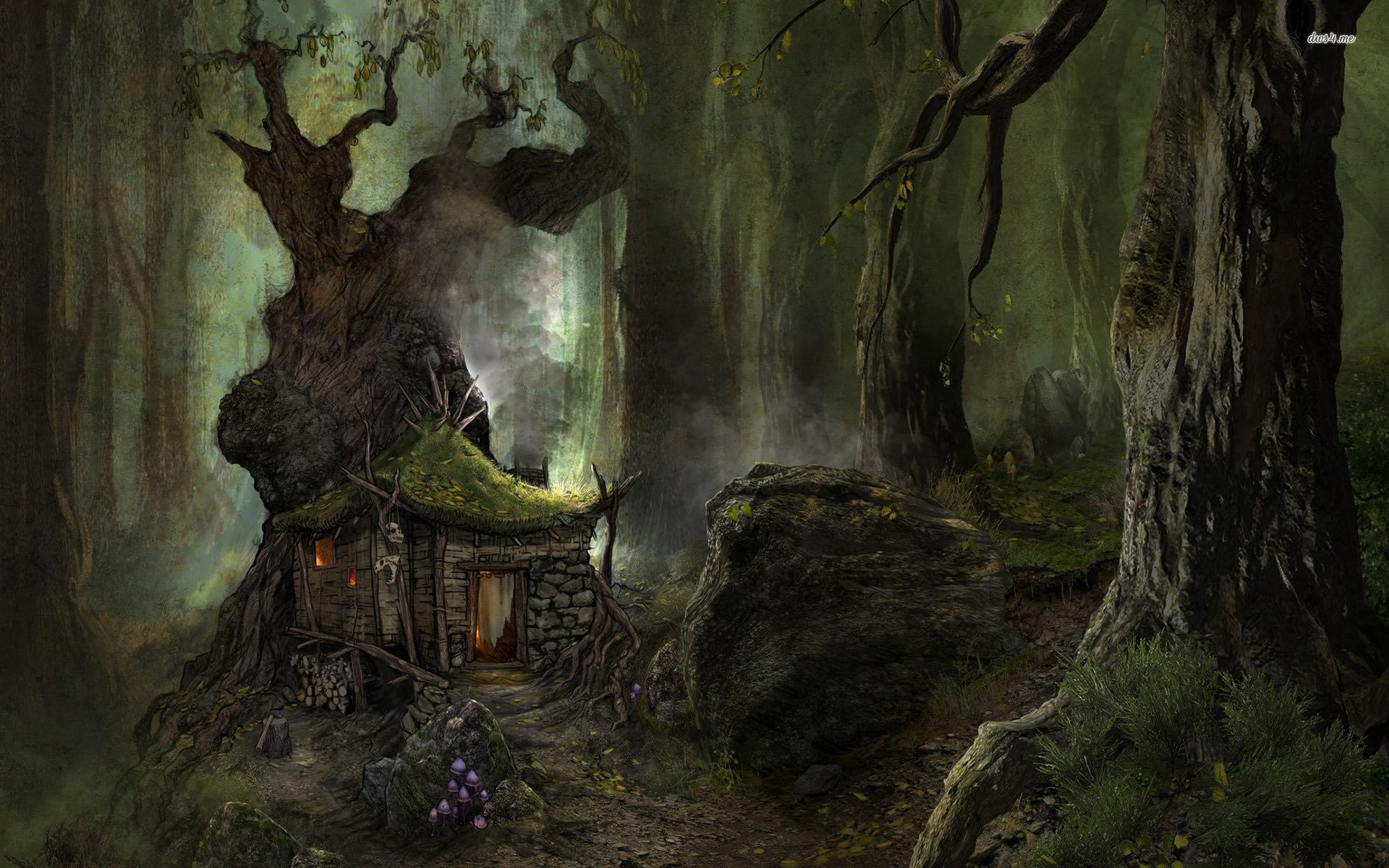 1920x1200 Small House In The Scary Forest 704864