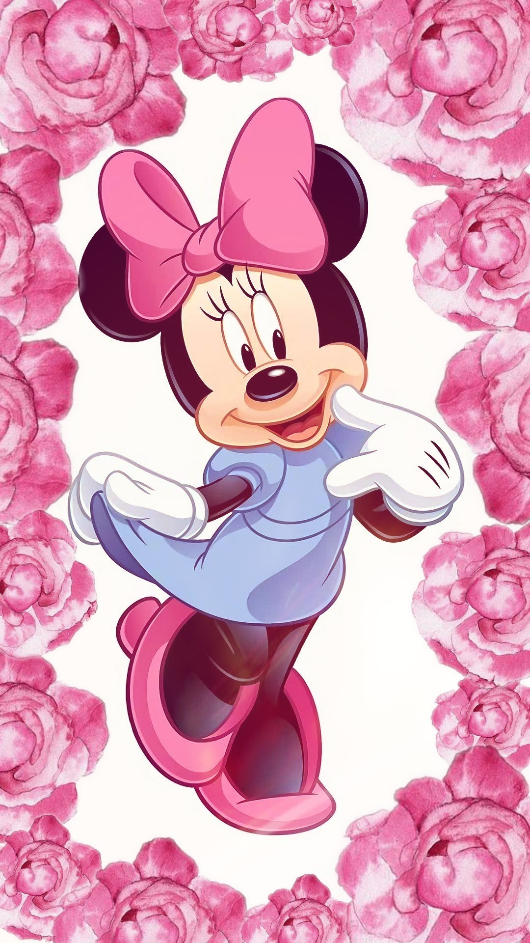 1080x1920 Minnie Mouse pink rose