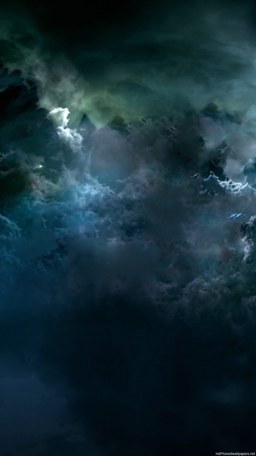 1920x1080 Wallpaper Cloud Sky Dark Blue Minimalism Clearly
