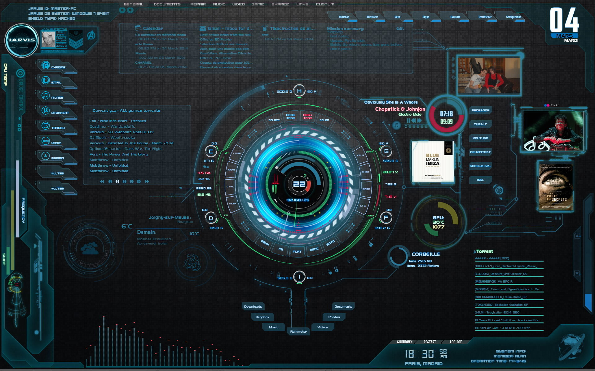 Jarvis iron man wallpaper hd 74 images for Deviantart rainmeter