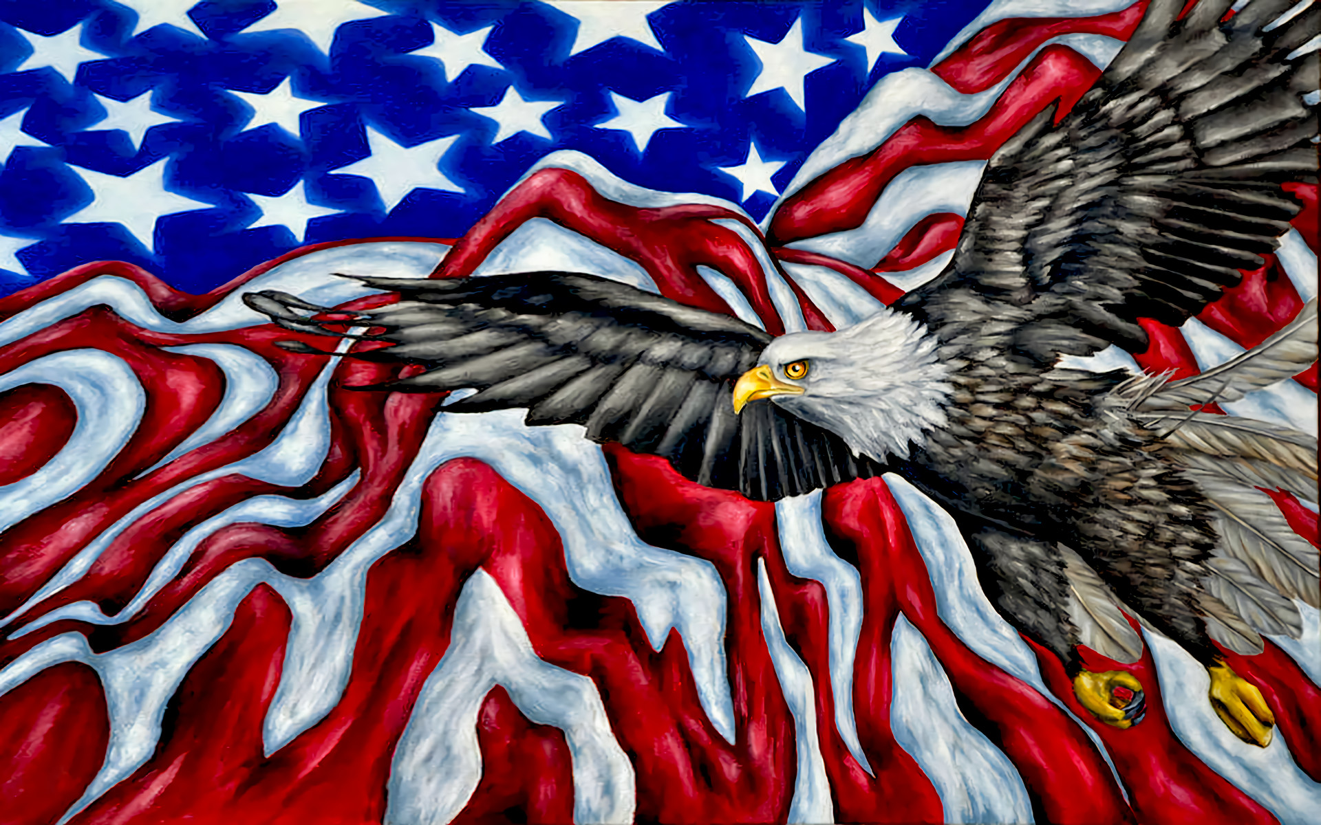 1920x1200 American Flag Artistic Bald Eagle Eagle Flag Wings · HD Wallpaper |  Background ID:783236