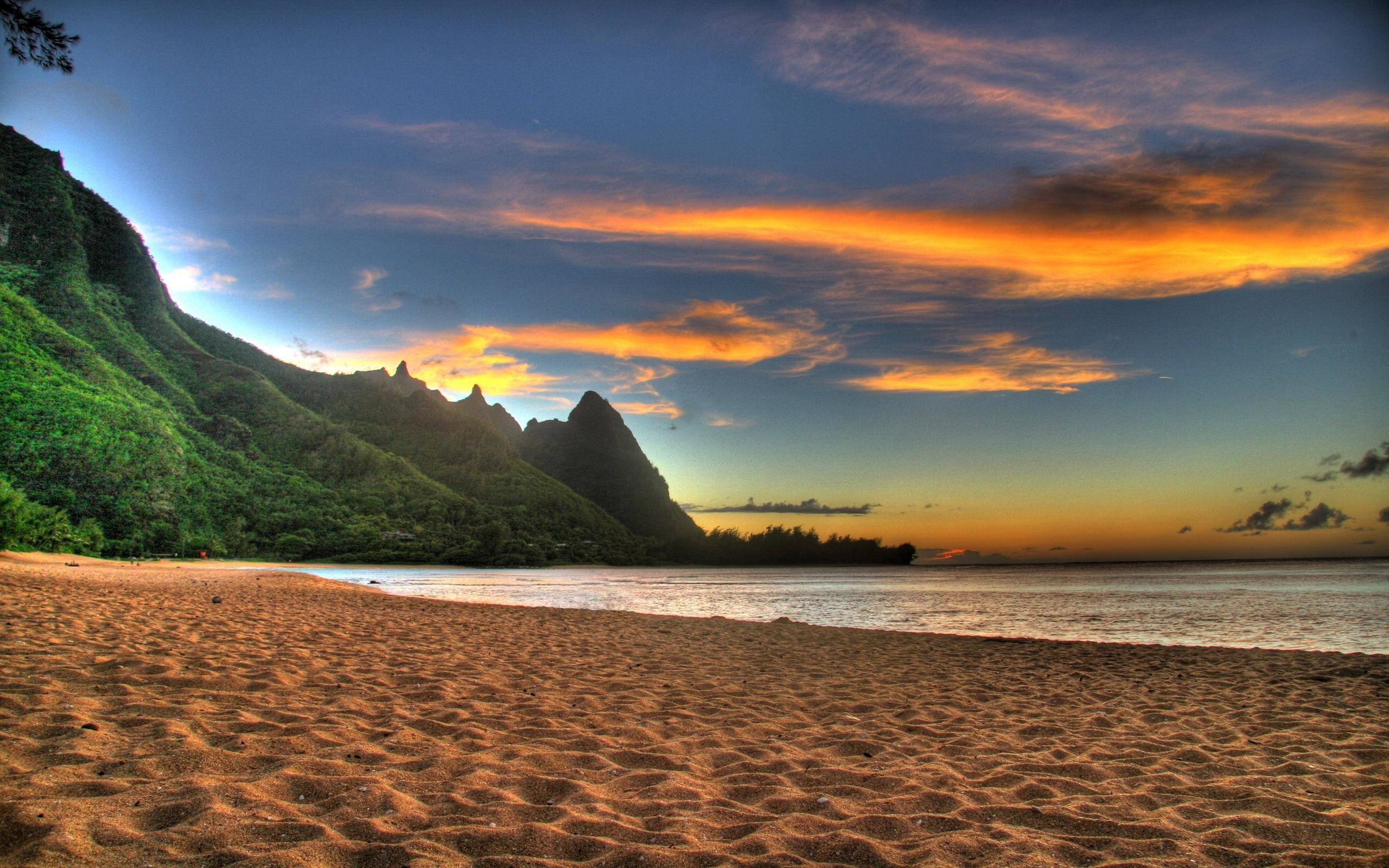 2560x1600 Beach Sunset Wallpaper Desktop Windows Download 3840x2160