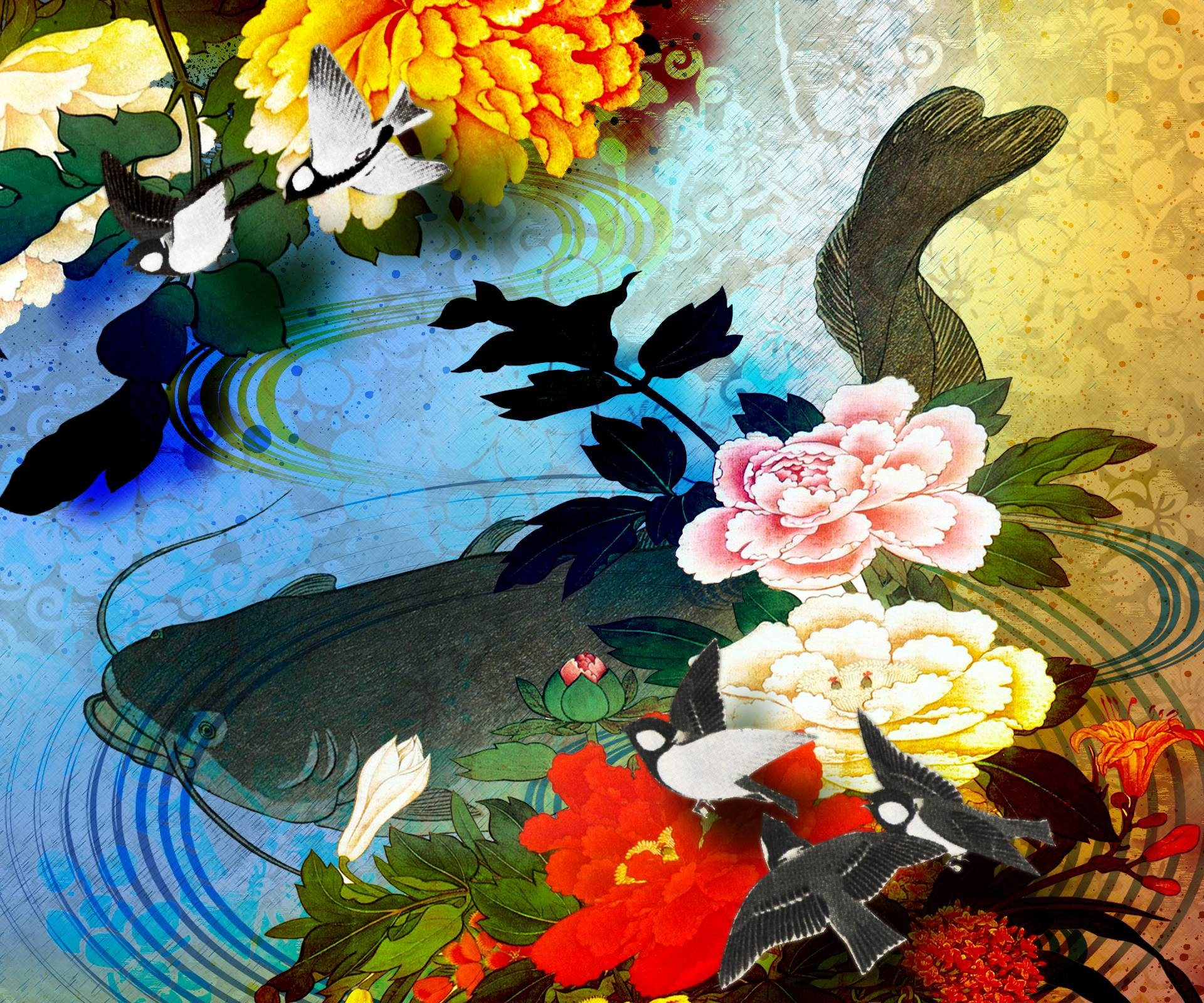 1920x1600 HD Heavenly Koi Wallpaper | Download Free - 112900
