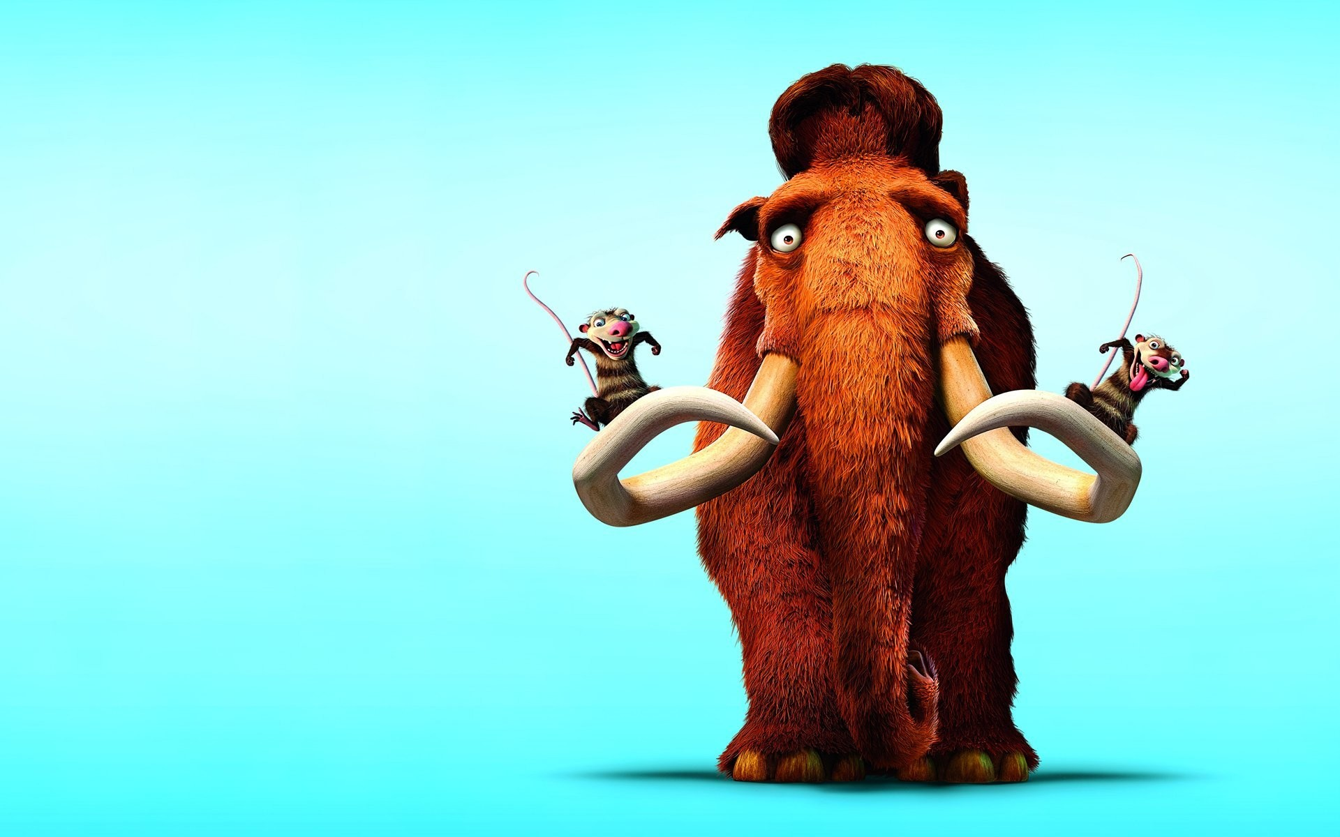 1920x1200 ice age ice age blue background mammoth rodents view
