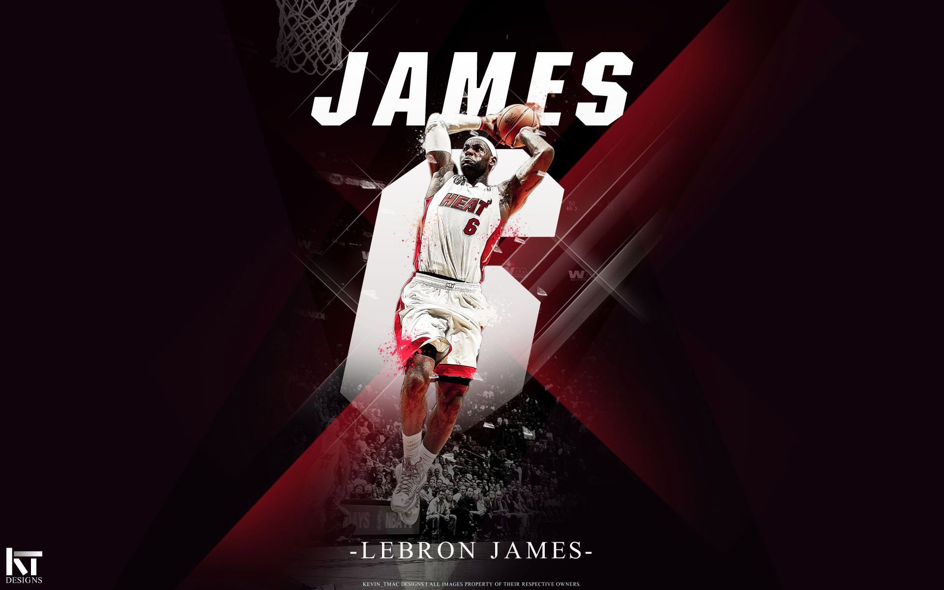 1920x1200 Wallpapers LeBron James Miami Heat Dunk wallpaper