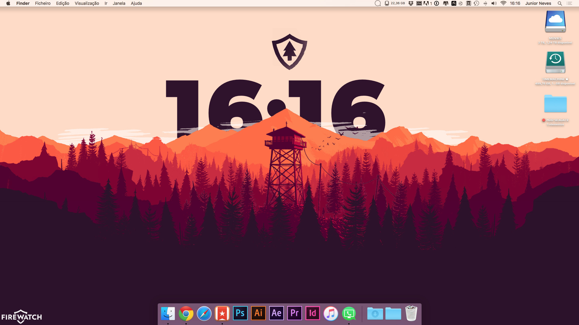 1920x1080 My Firewatch mac custom wallpaper ...