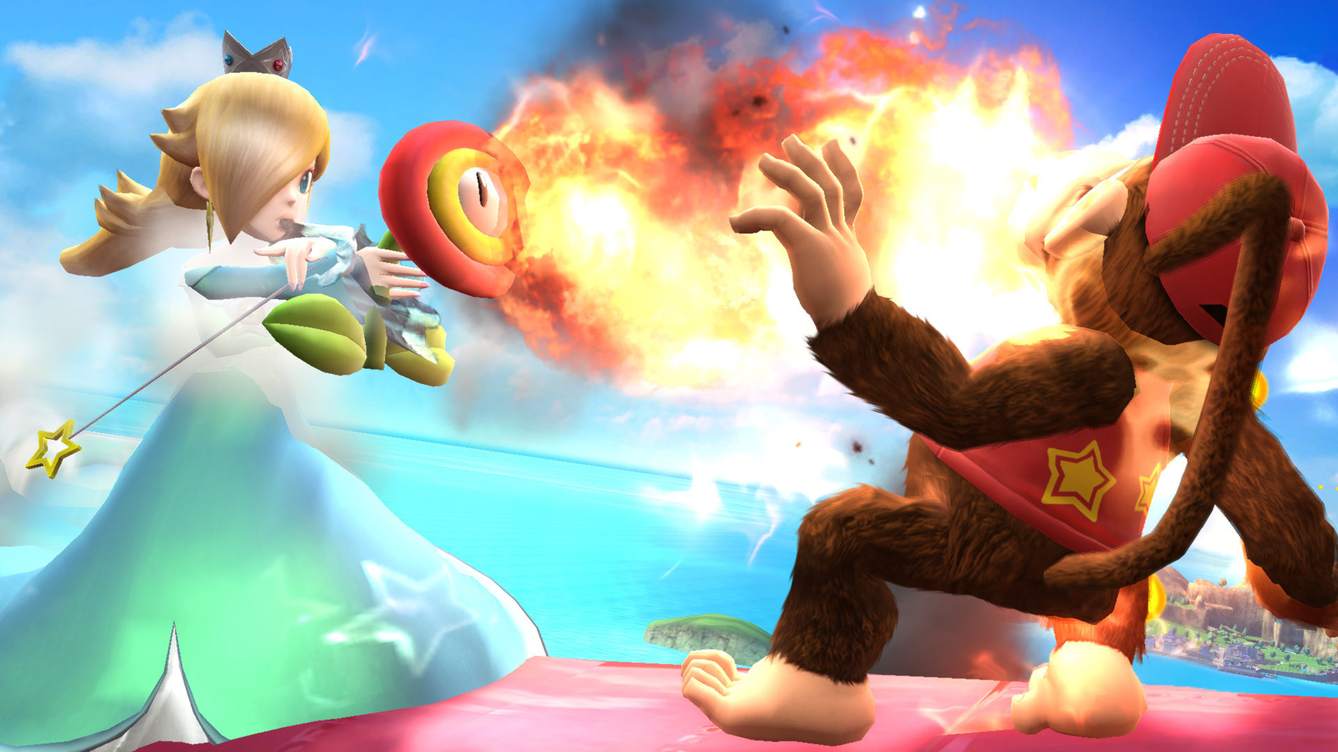 1920x1080 ... Rosalina and a Fire Flower by Rosalina-Luma