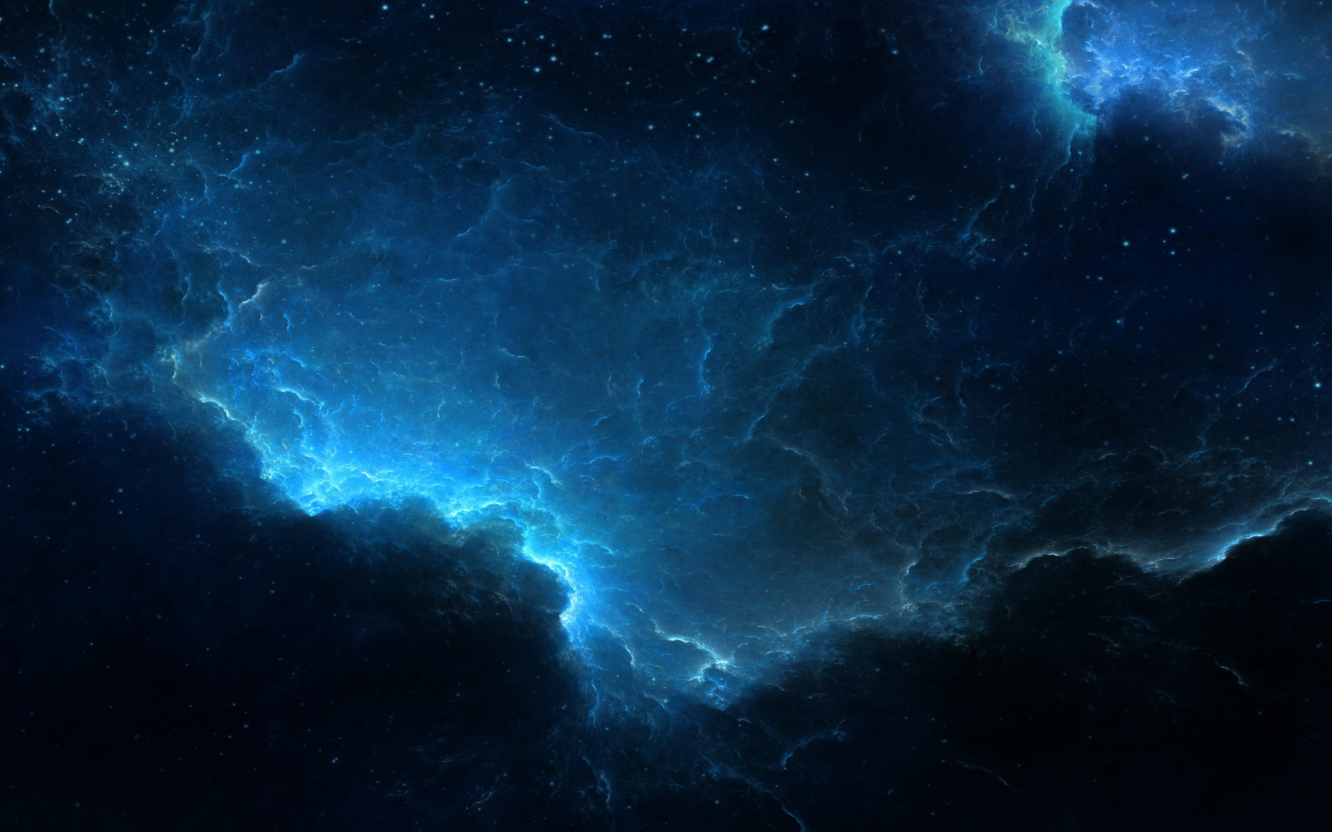 Blue lightning wallpaper