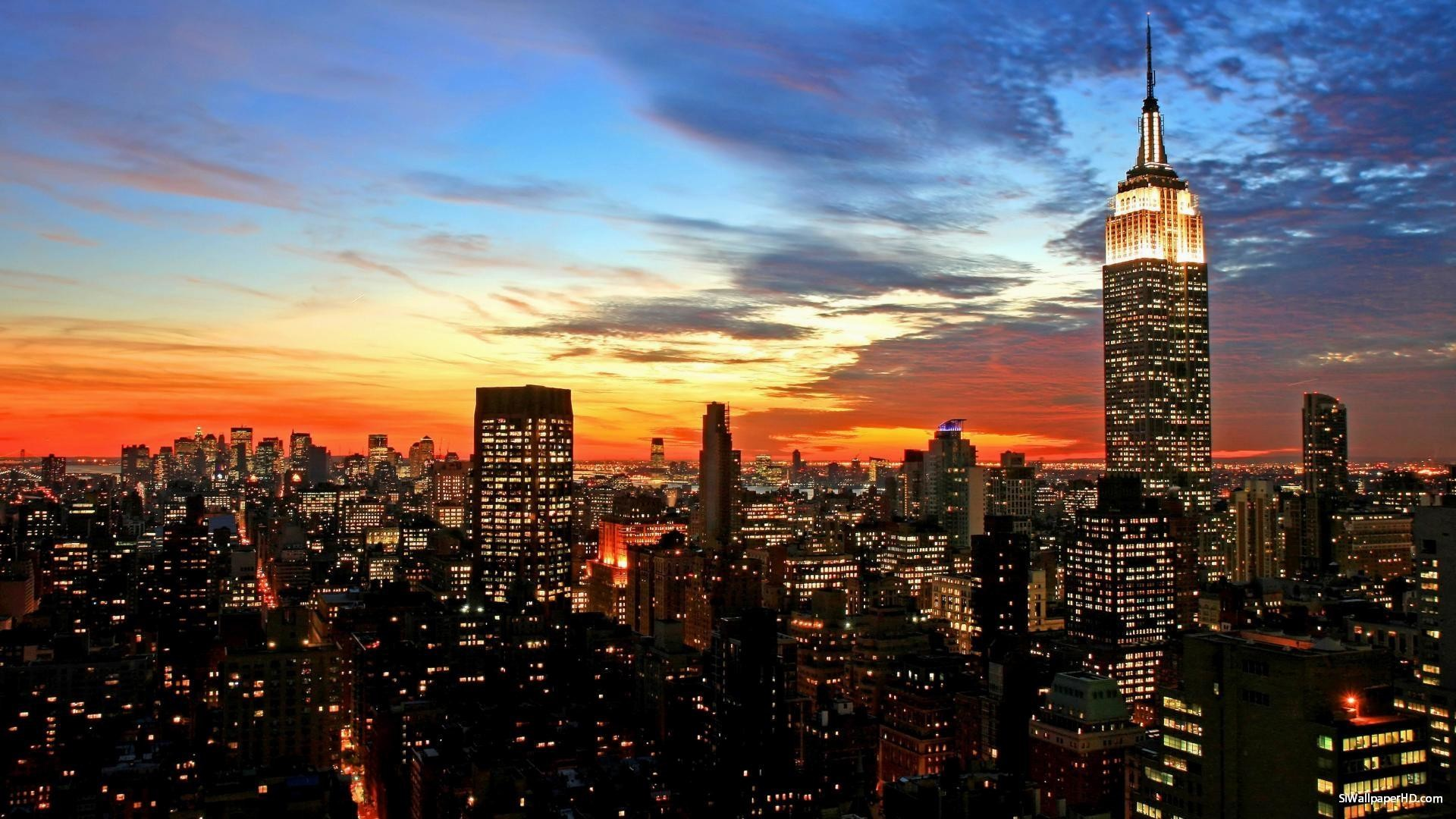 1920x1080 Skyline von New York Tapete