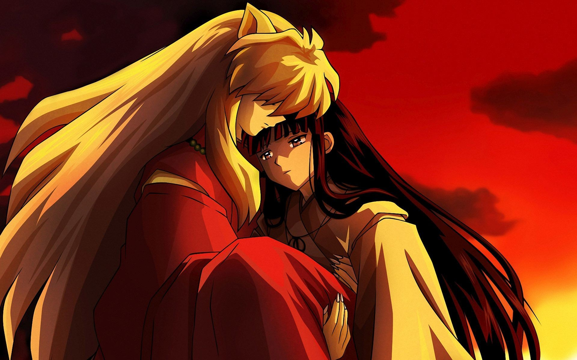 1920x1200 Kikyo and Sesshomaru Inuyasha Wallpaper 26073