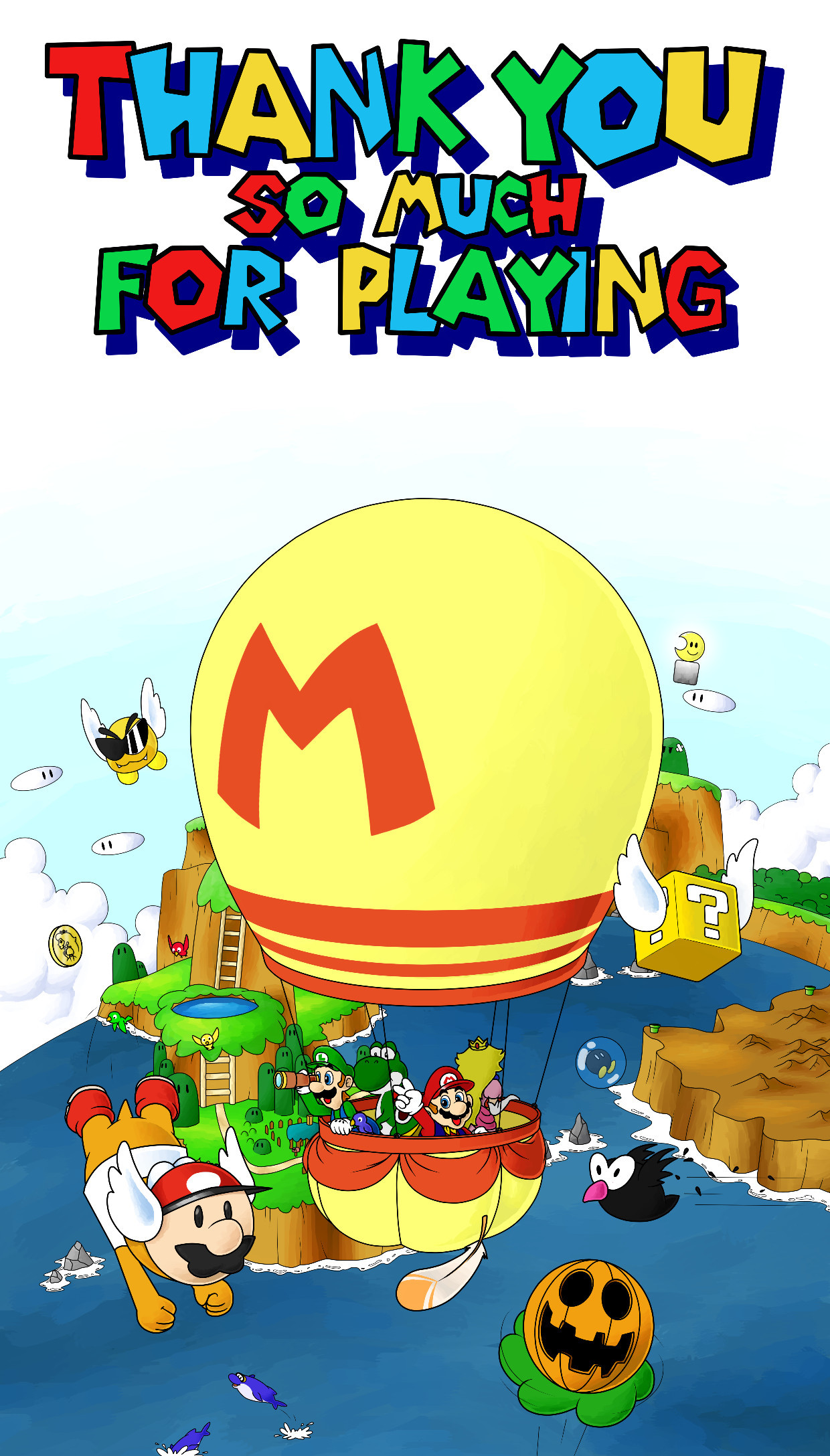 1240x2176 ... Super Mario World: A Special Surprise by The-PaperNES-Guy