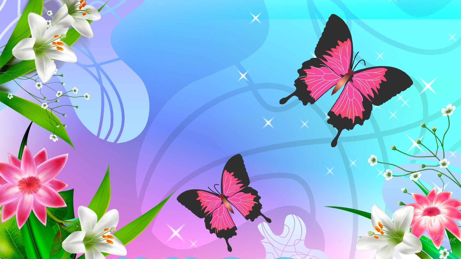 1920x1080 Cute butterfly wallpaper pattern free vector download (25,877 Free .