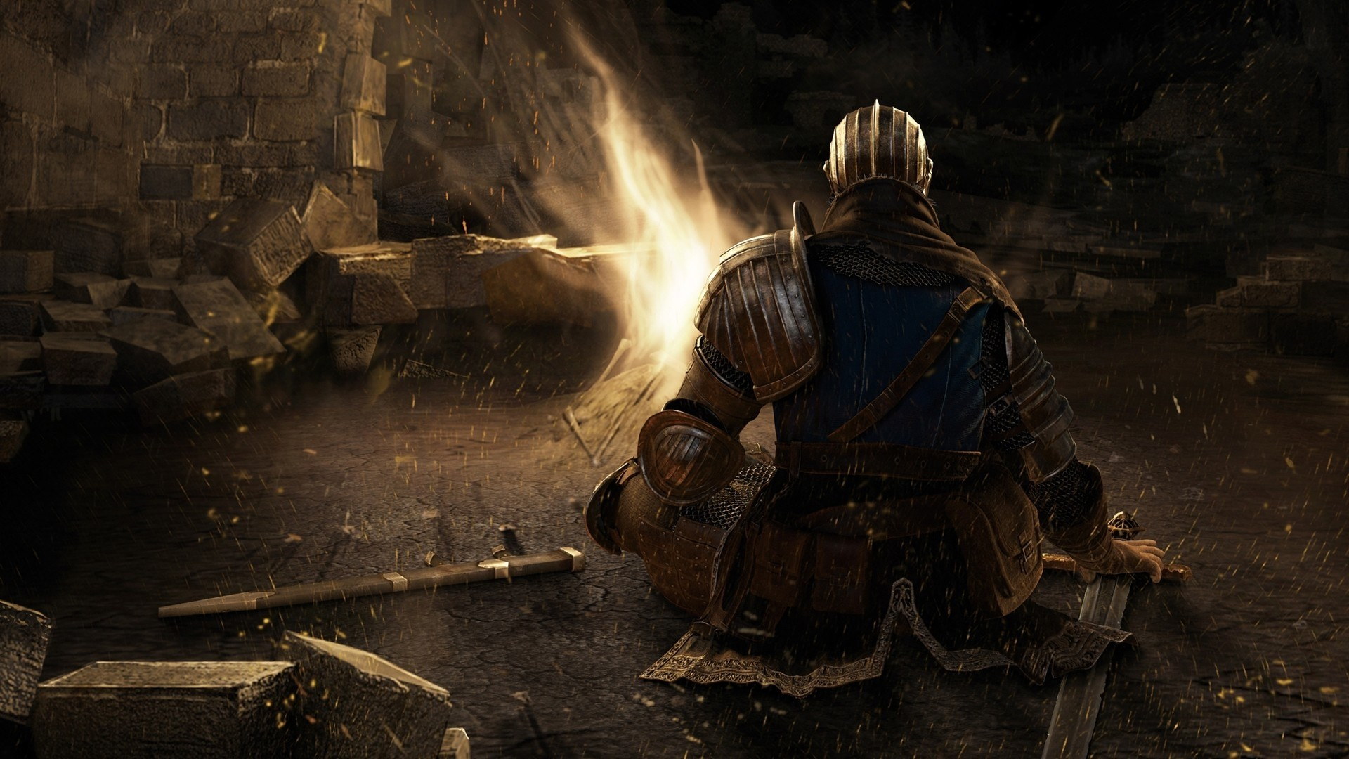 1920x1080 Dark Souls Bonfire Sword Character Relax hd wallpaper by ThorMark