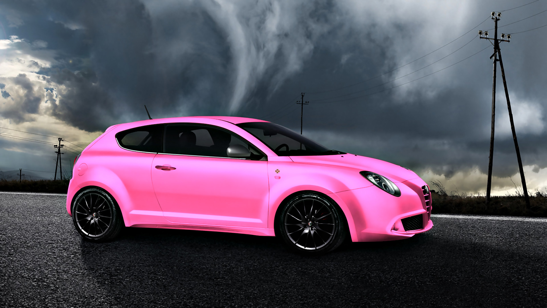 Awesome 1920x1080 BMW E92 M3 Super Abstract Car 2014 Pink .