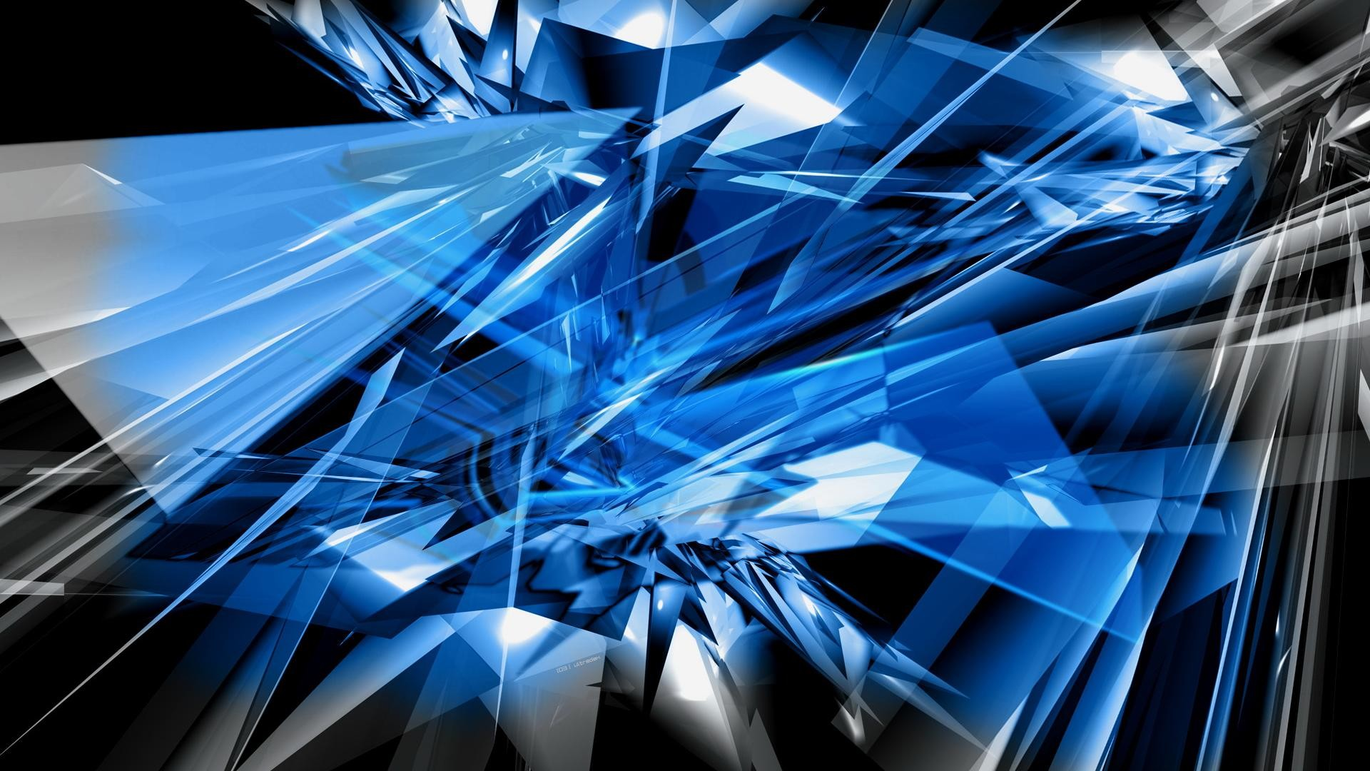 1920x1080 Blue Flower Abstract