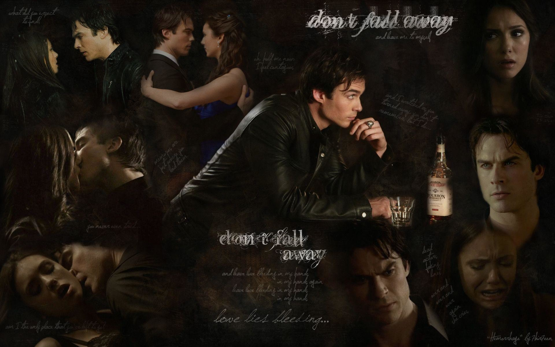 Wallpaper The Vampire Diaries: Vampire Diaries Wallpaper Damon And Elena (74+ Images