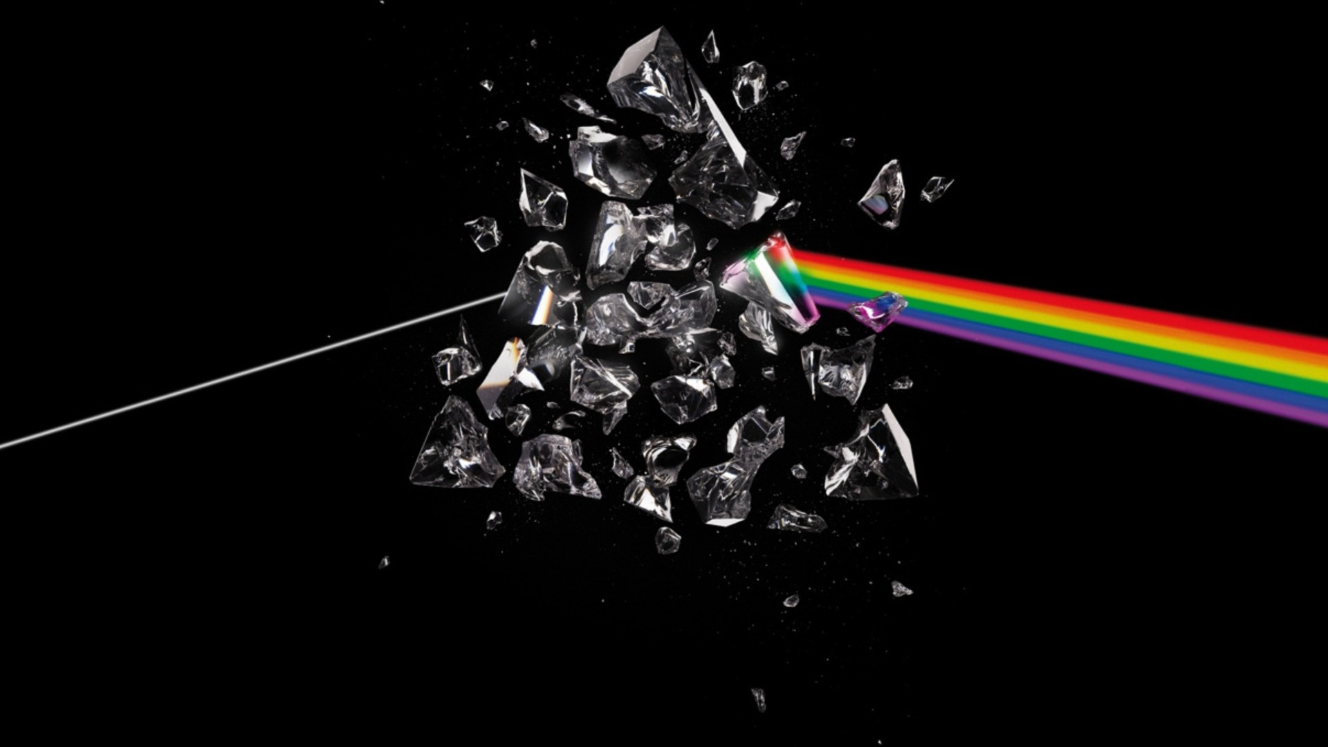 1920x1080 pink floyd, debris, rainbow, graphics, background Full HD 1080p .